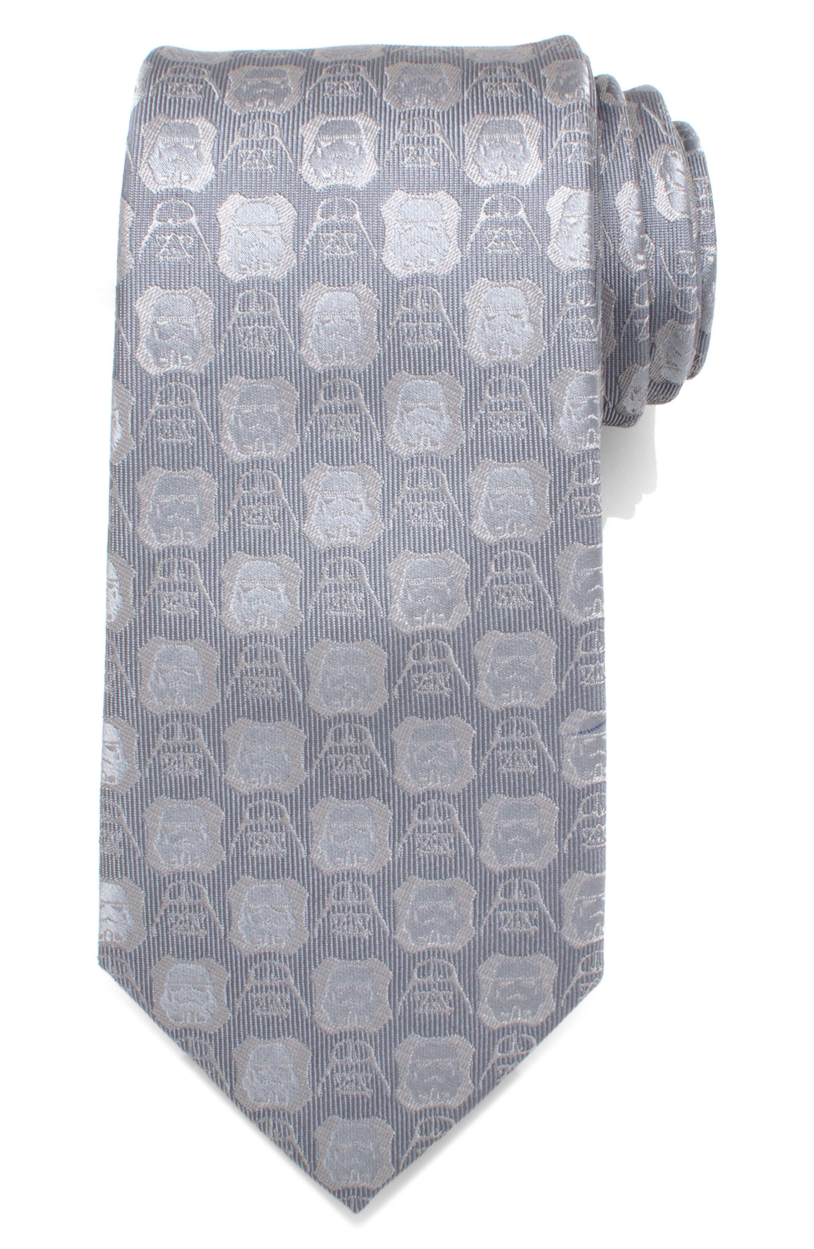 Star Wars<sup>™</sup> Darth Vader Medallion Silk Tie,                         Main,                         color, Gray