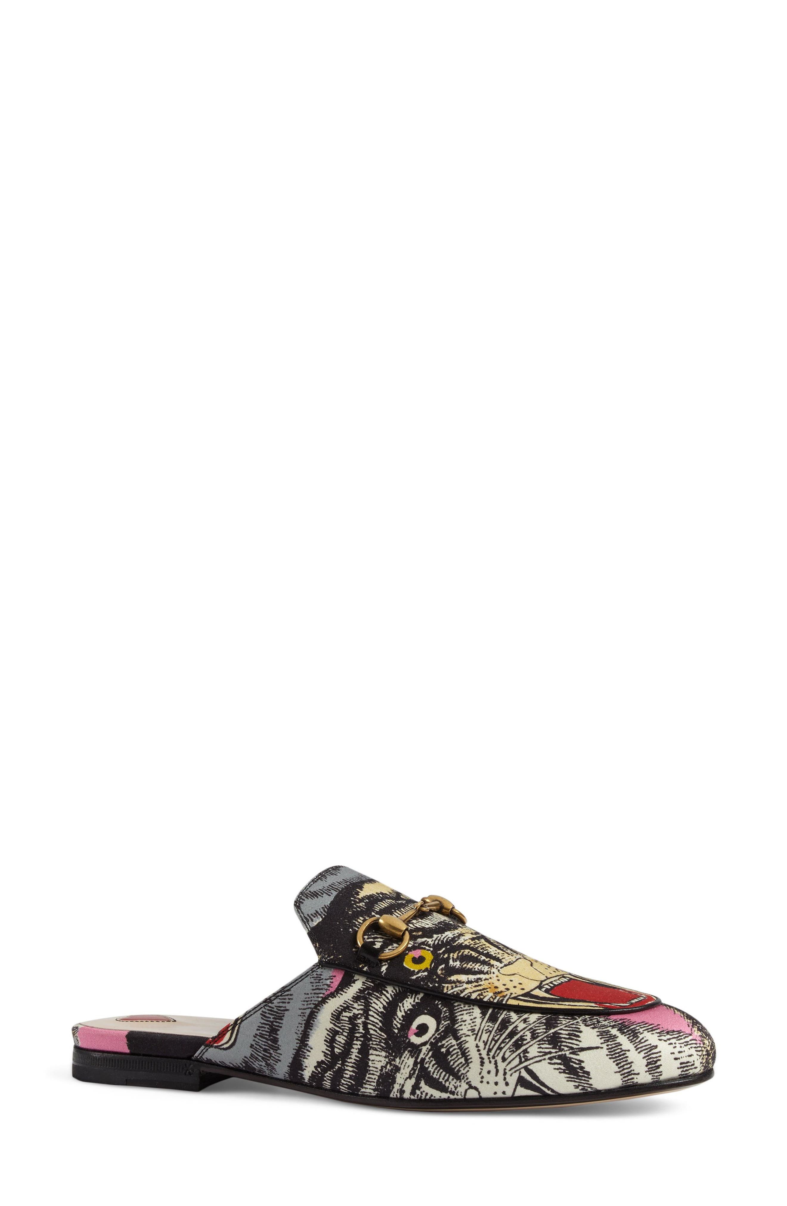 Princetown Angry Cat Mule Loafer,                             Alternate thumbnail 3, color,                             Black Multi
