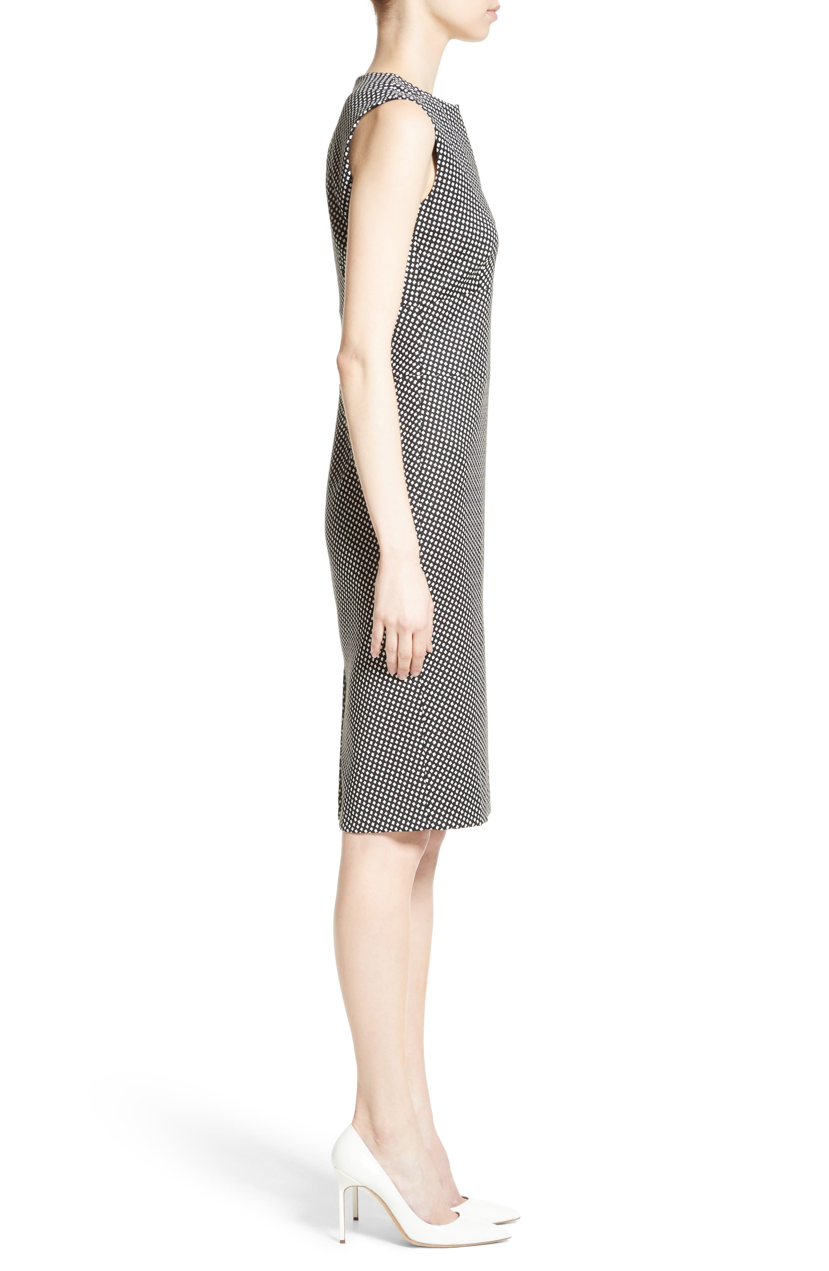 Cerea Sheath Dress,                             Alternate thumbnail 5, color,                             Black