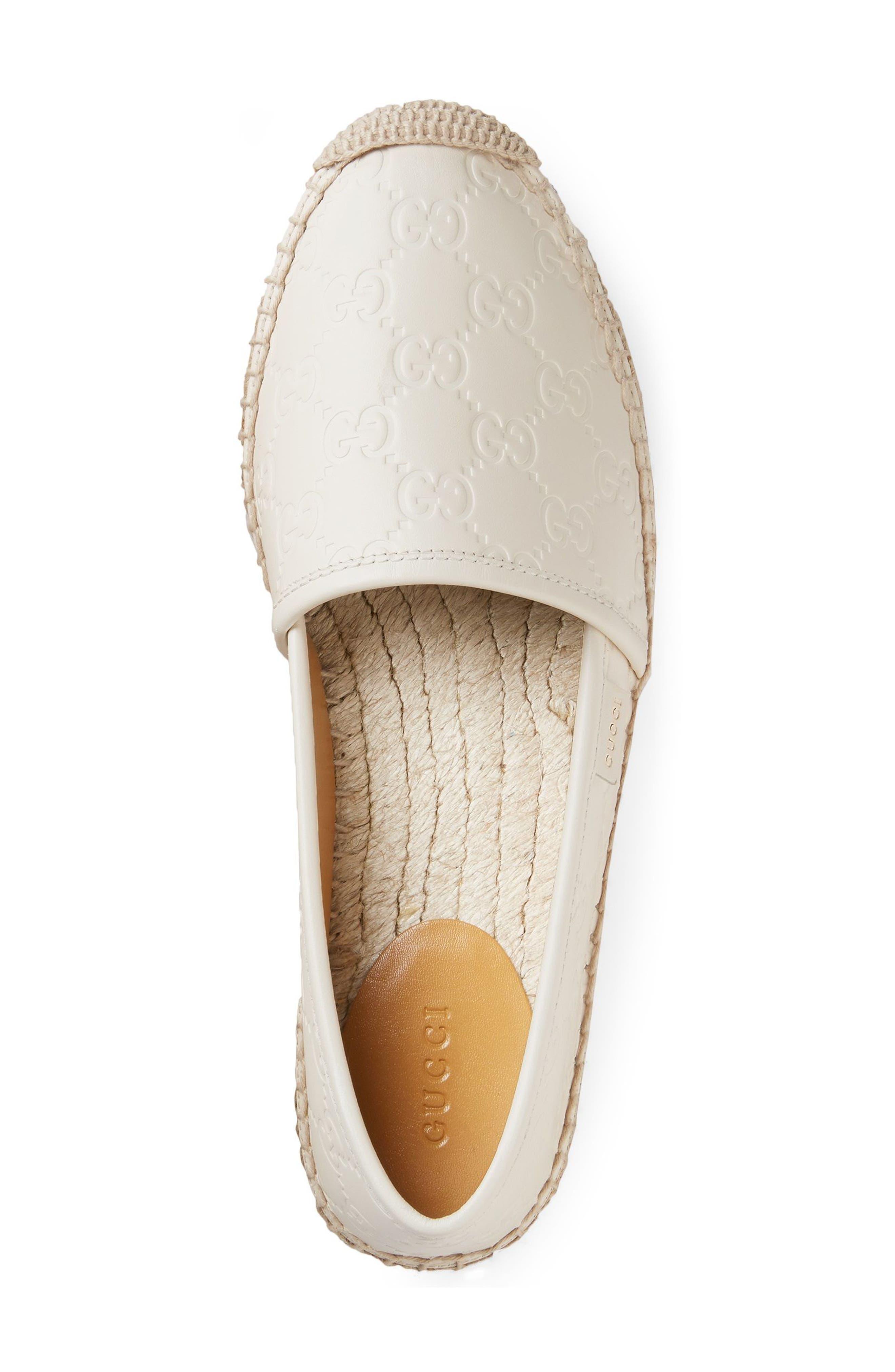 Pilar Espadrille Flat,                             Alternate thumbnail 2, color,                             White Leather