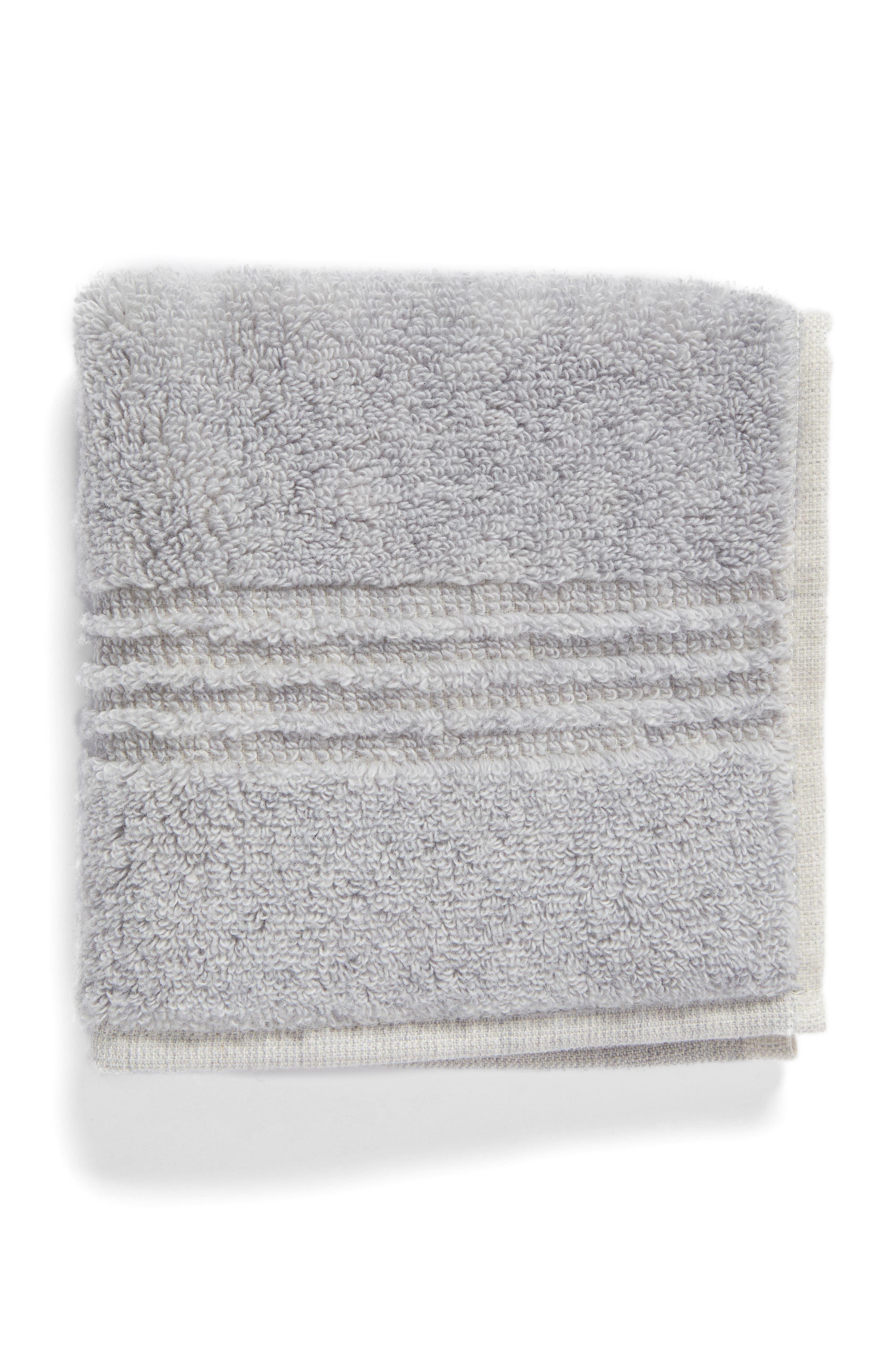 Organic Hydrocotton Washcloth,                         Main,                         color, Grey Soft