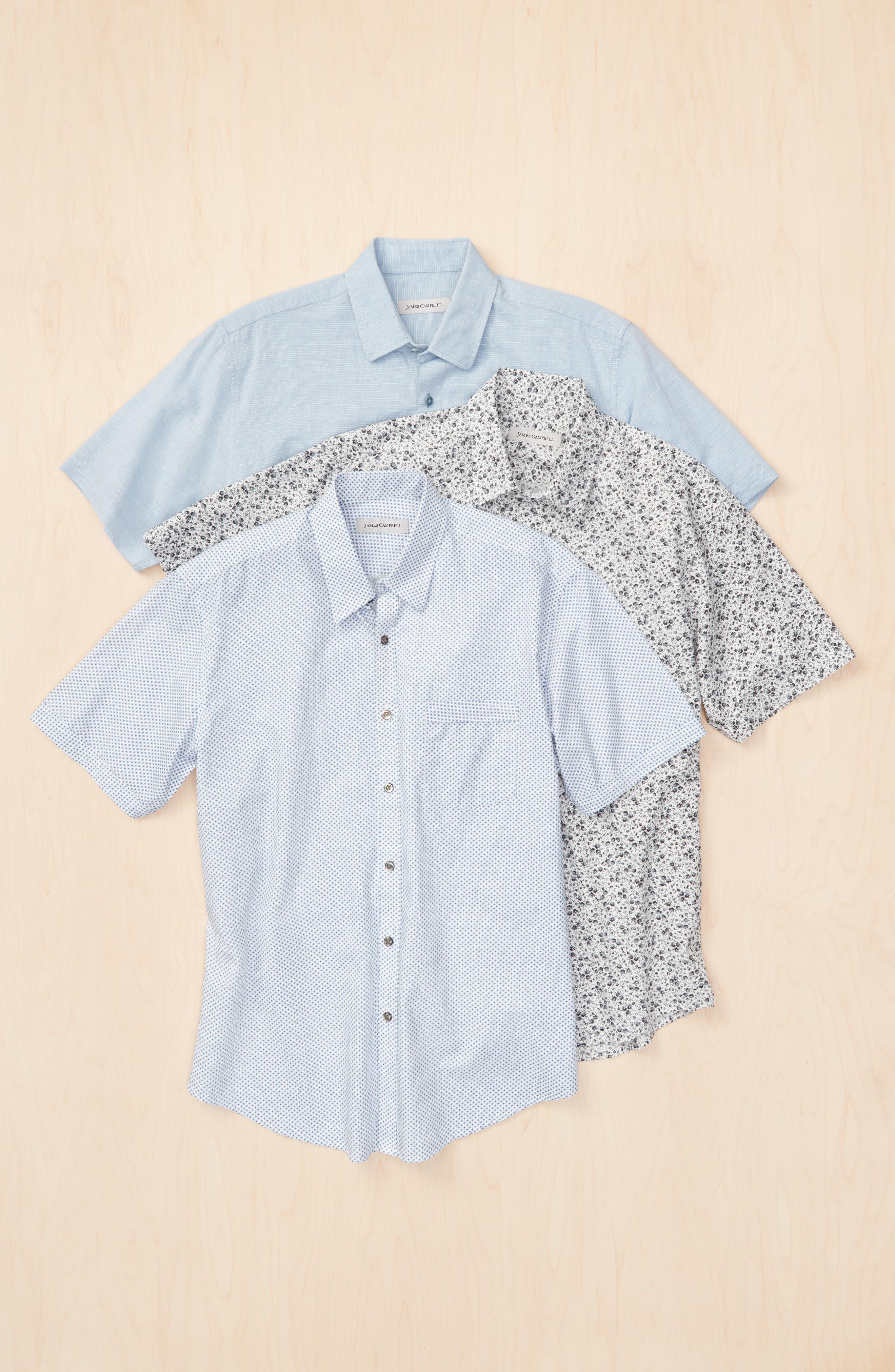 Alternate Image 7  - James Campbell 'Ellerbe' Regular Fit Short Sleeve Sport Shirt