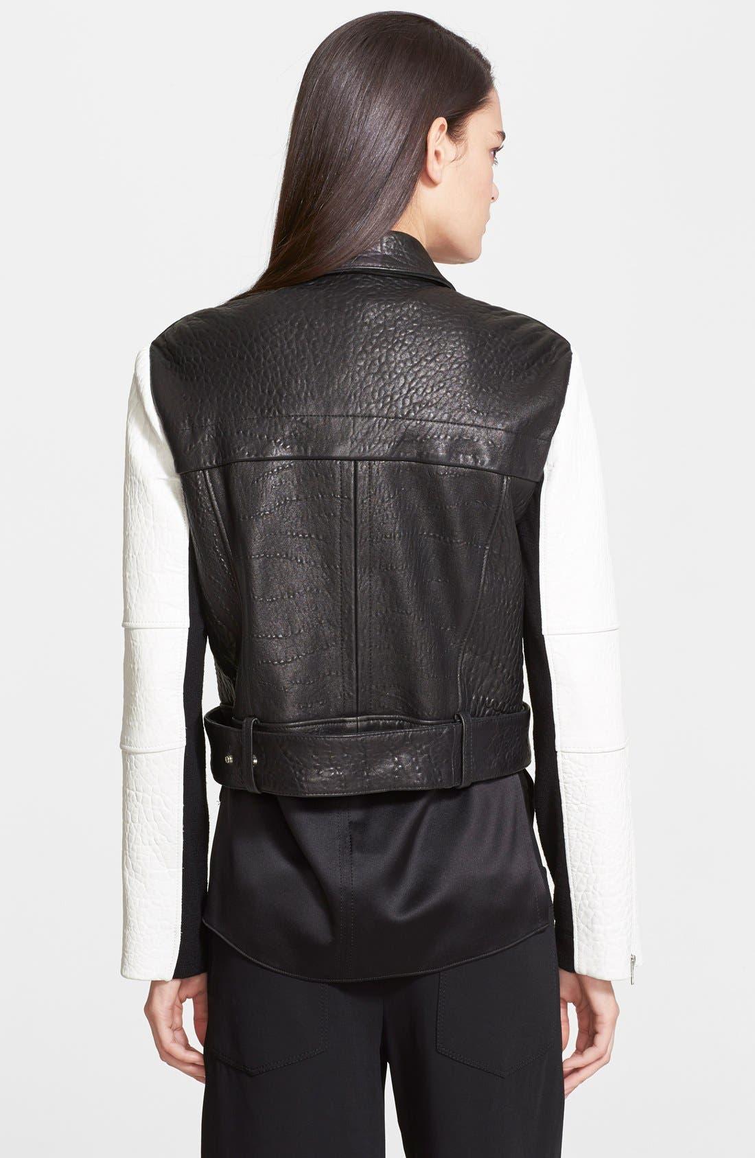 Alternate Image 2  - Helmut Lang 'Forge' Leather Moto Jacket