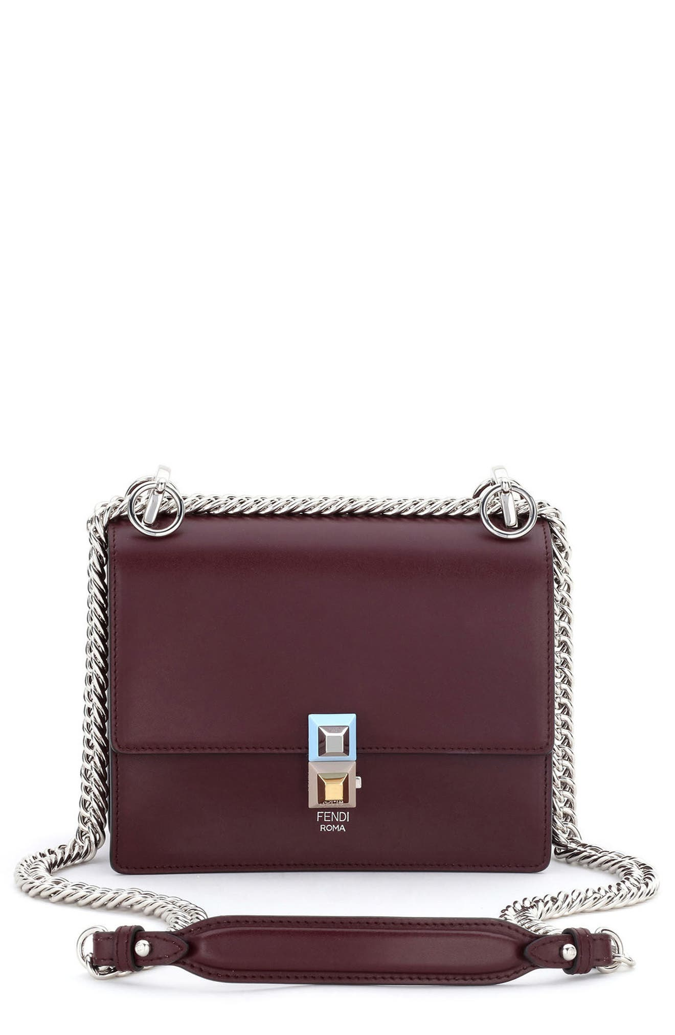 Fendi Small Kan I Leather Bag