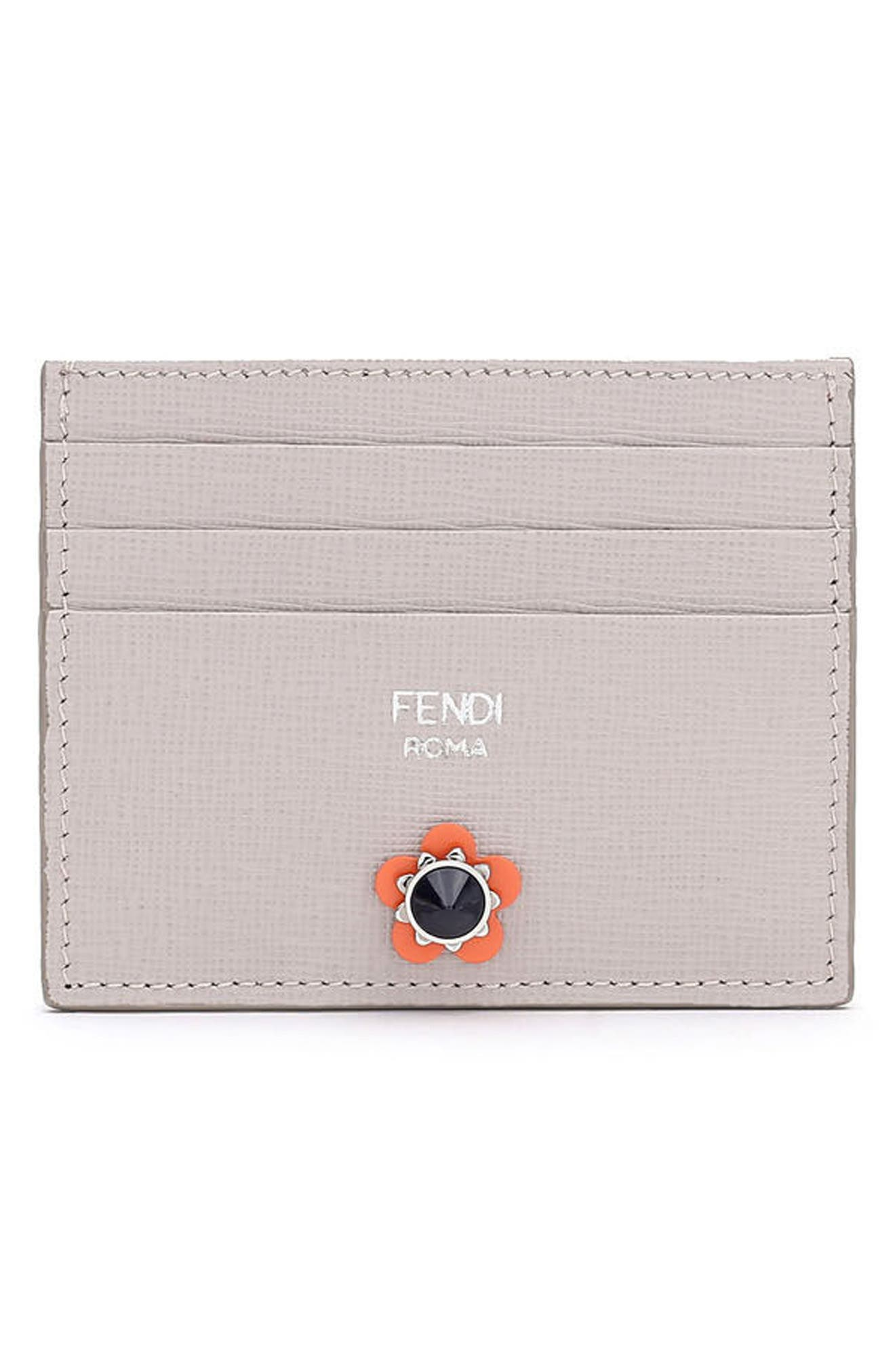 FENDI Flowerland Elite Leather Card Case