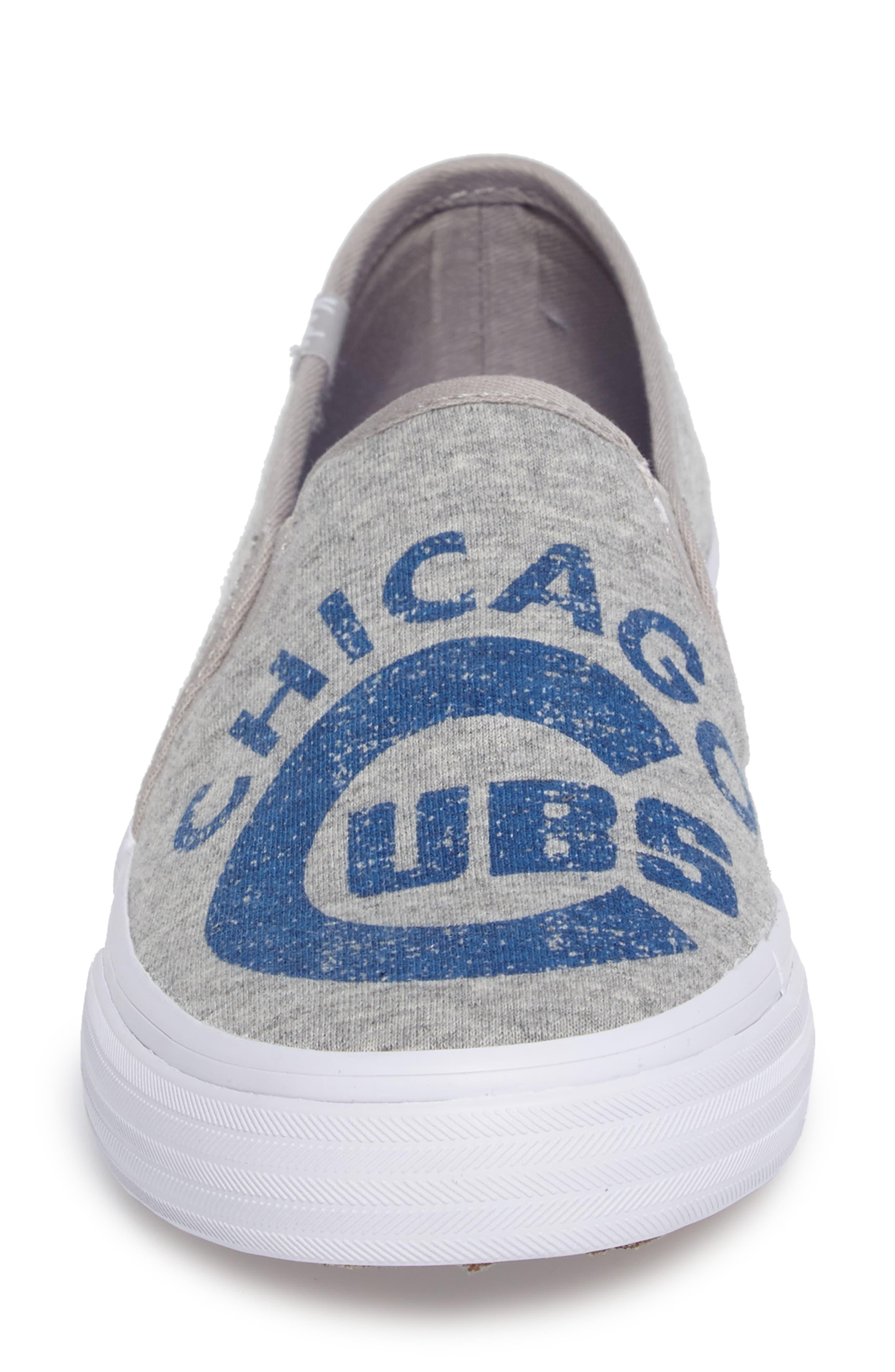 Double Decker Baseball Team Jersey Slip-On Sneaker,                             Alternate thumbnail 4, color,                             Light Grey