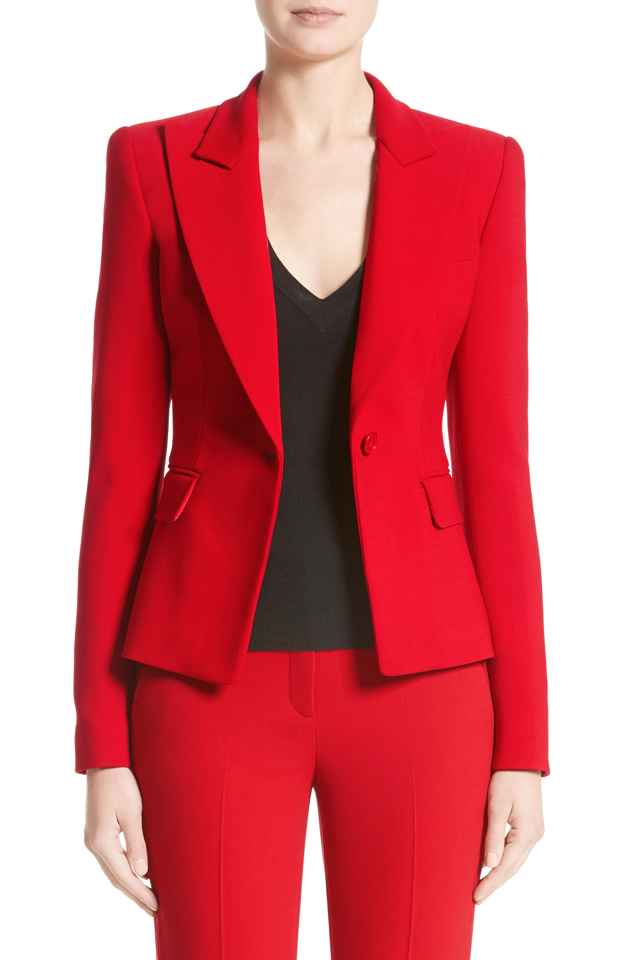 Michael Kors Stretch Pebble Crepe Blazer