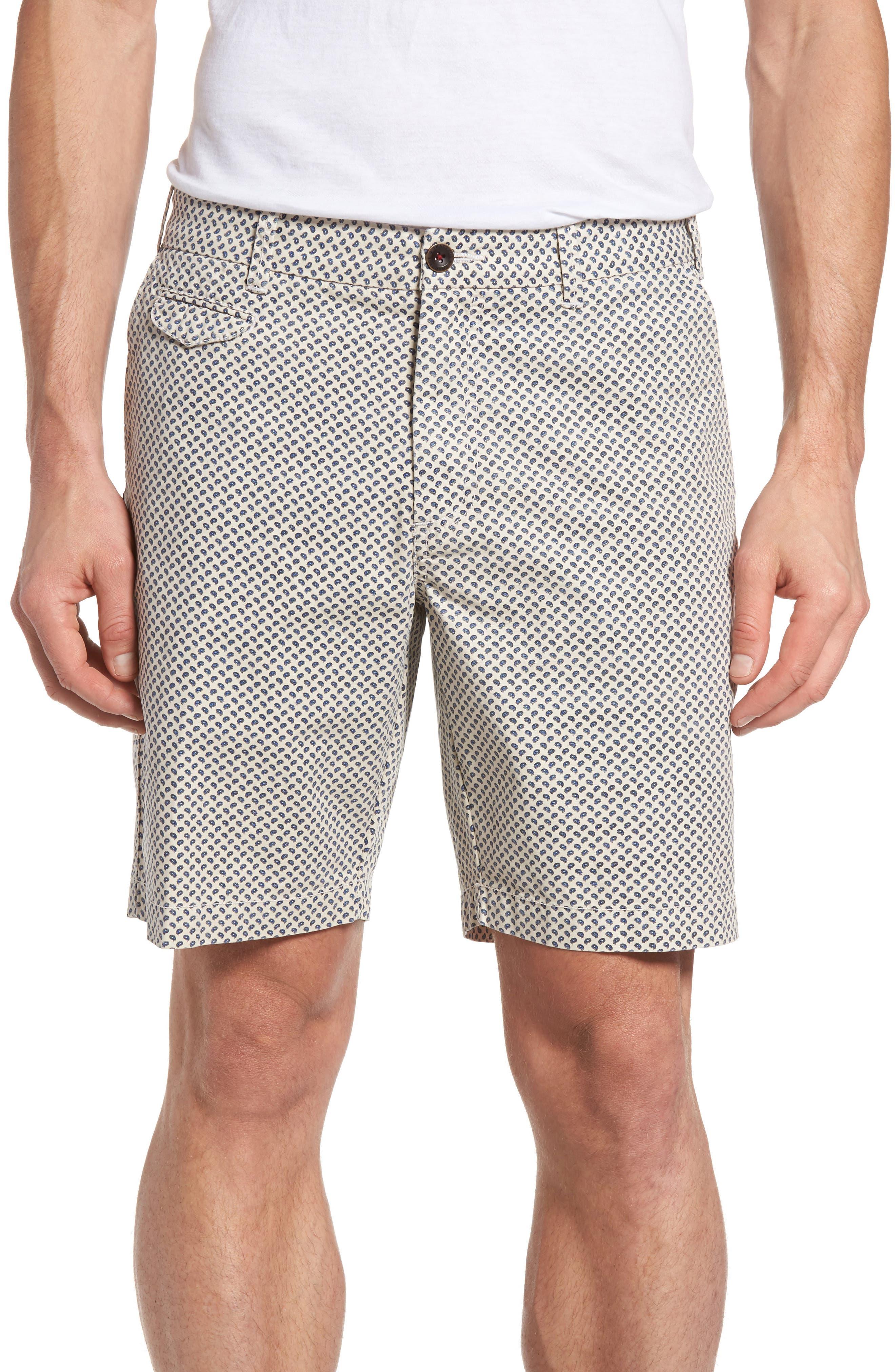 Main Image - Thaddeus Pierce Print Flat Front Shorts