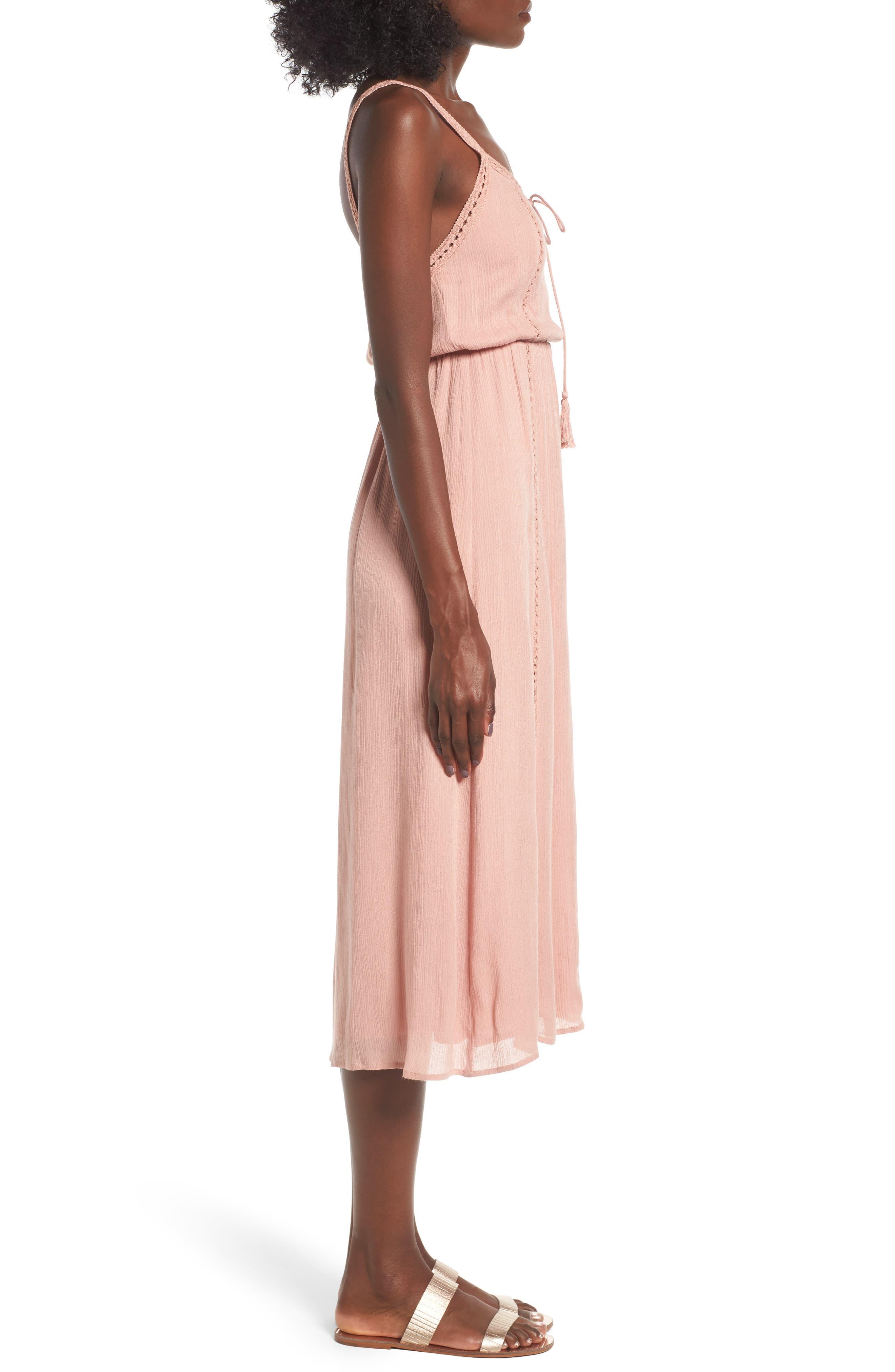 Alternate Image 3  - Ladder Trim Midi Dress