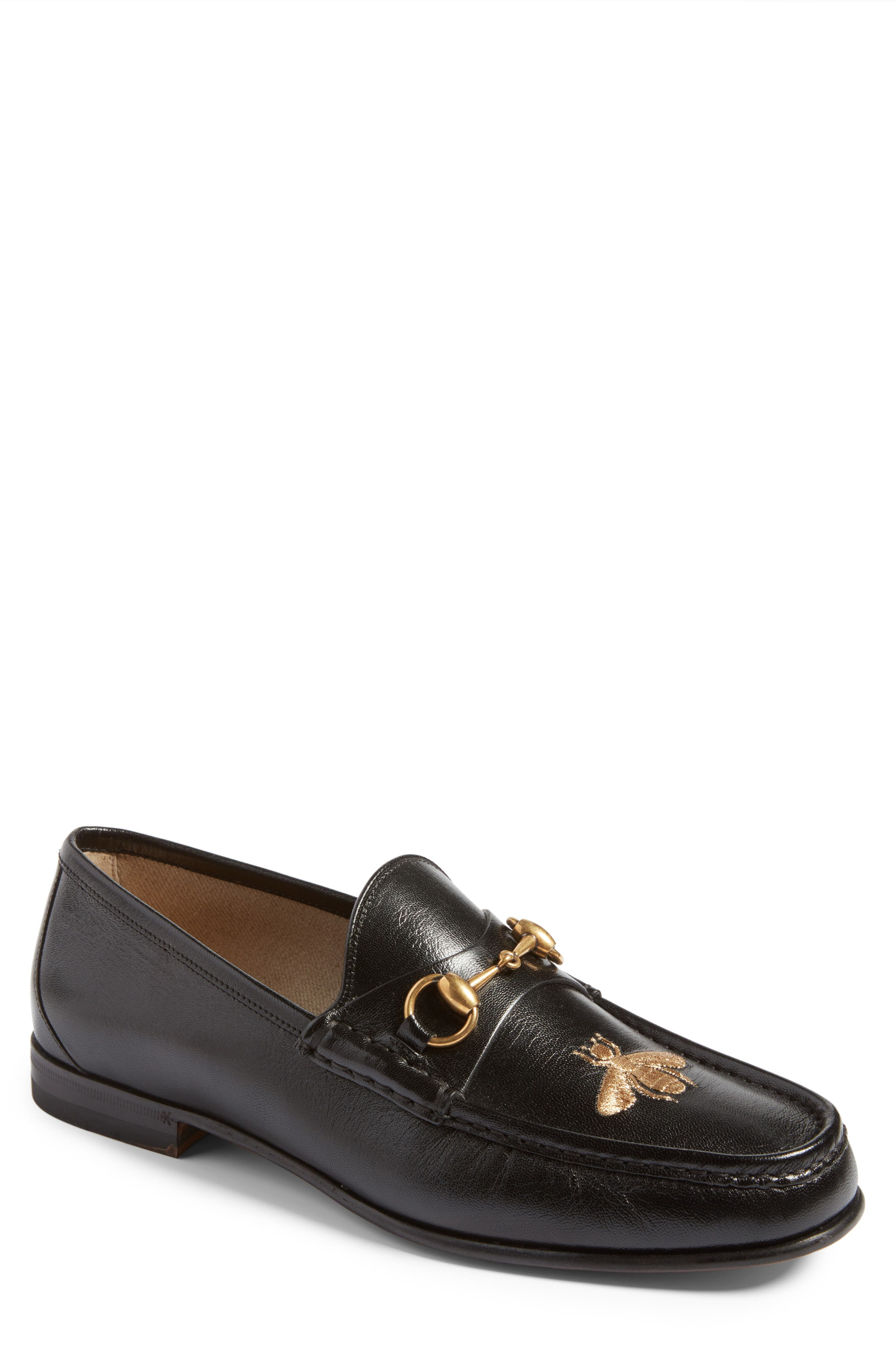 Alternate Image 1 Selected - Gucci Roos - Bee Loafer (Men)