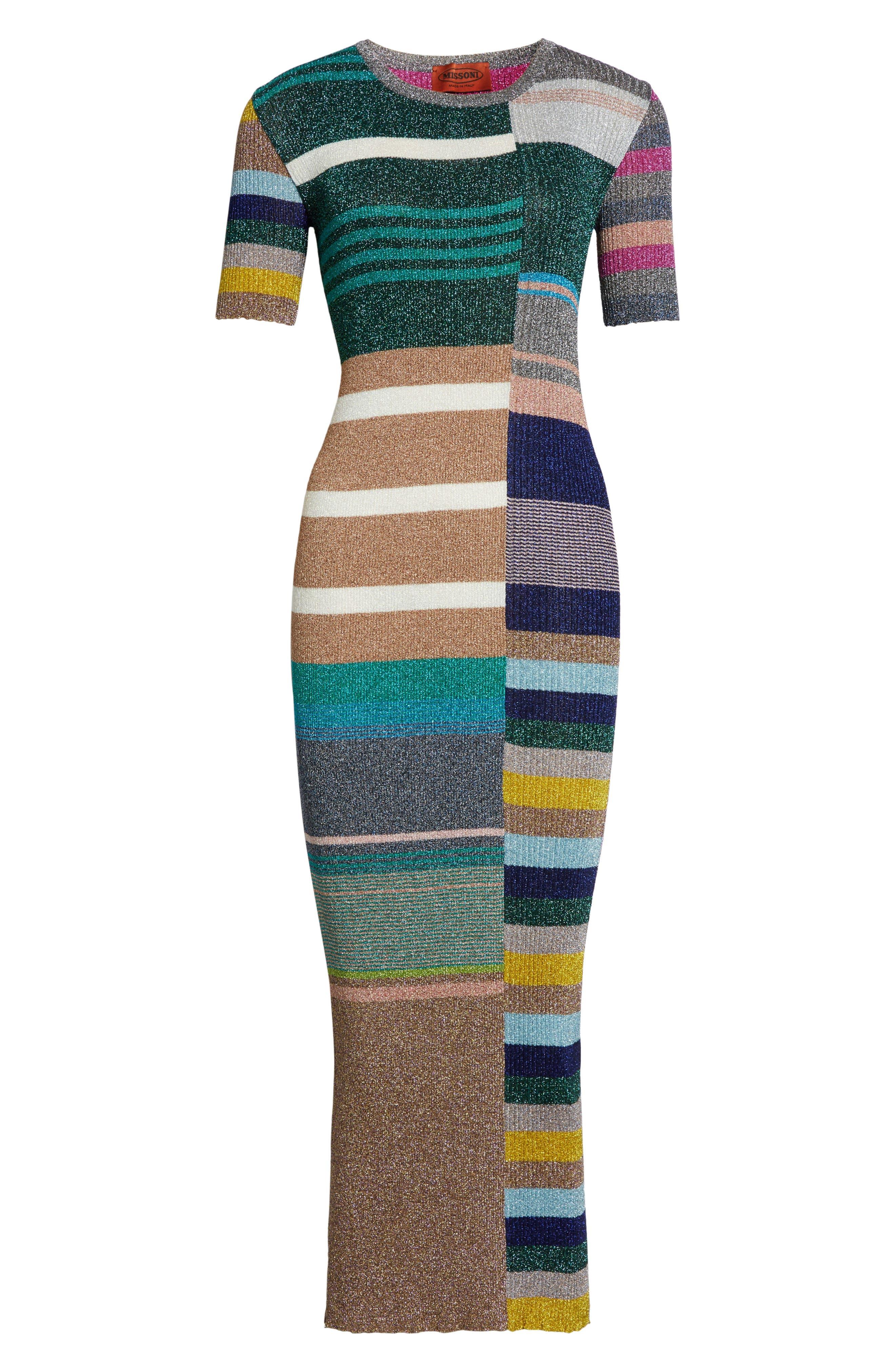 Alternate Image 4  - Missoni Metallic Stripe Rib Knit Dress