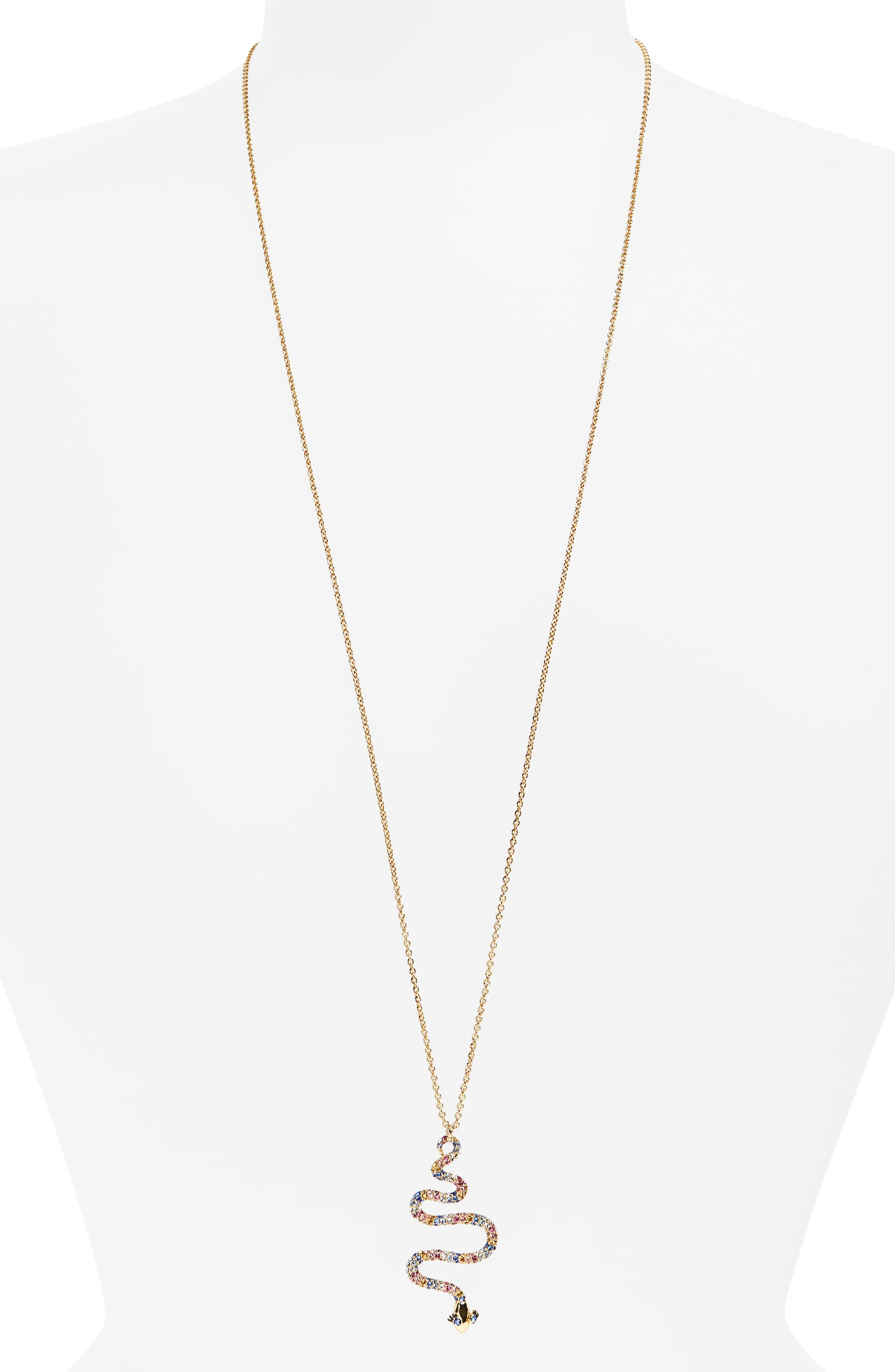 kate spade new york spice things up snake pendant necklace