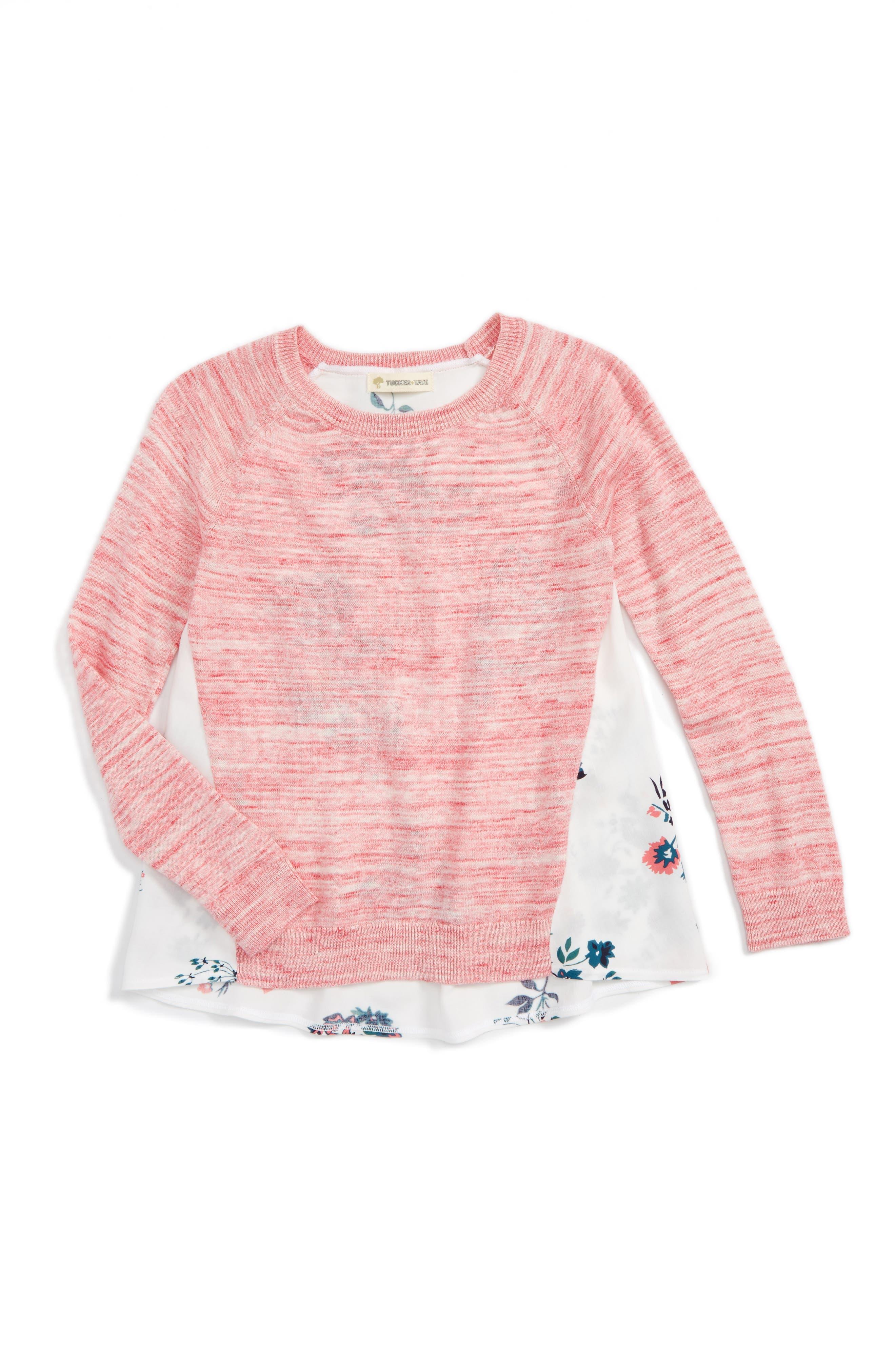 Tucker + Tate Mixed Media Sweater (Toddler Girls, Little Girls & Big Girls)
