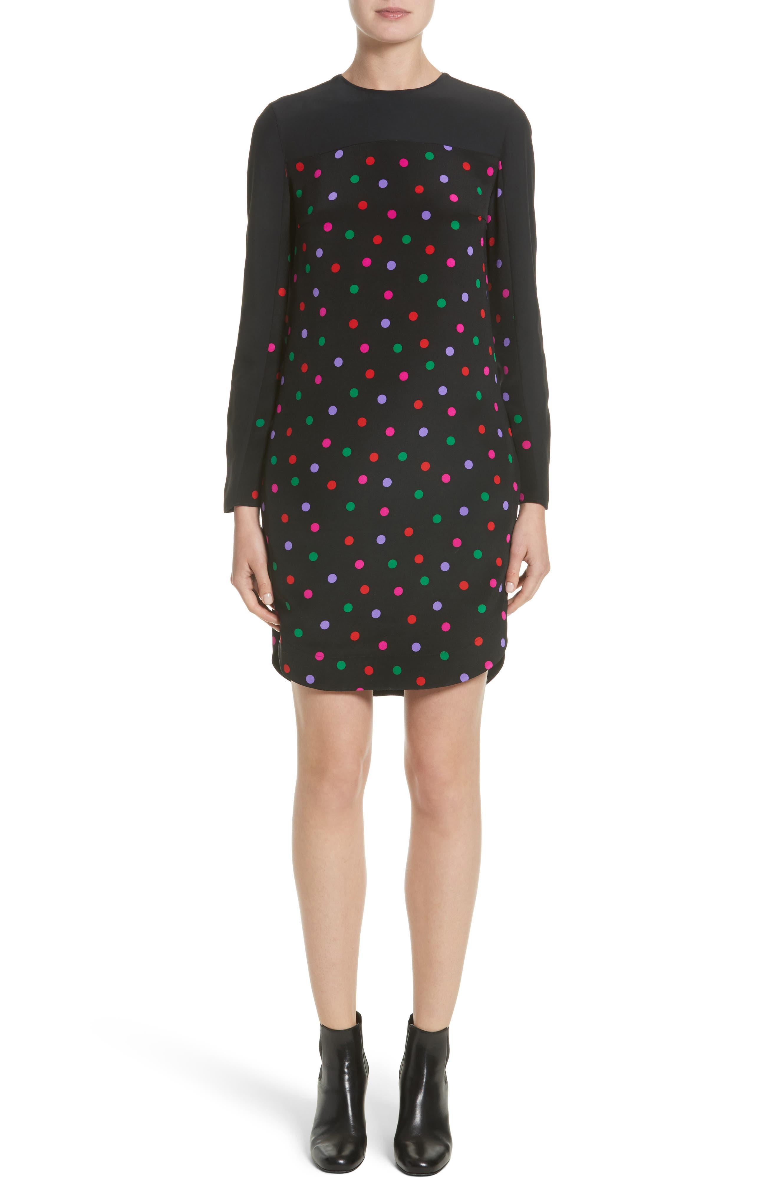 Akris punto Multicolor Dot Silk Dress (Nordstrom Exclusive)