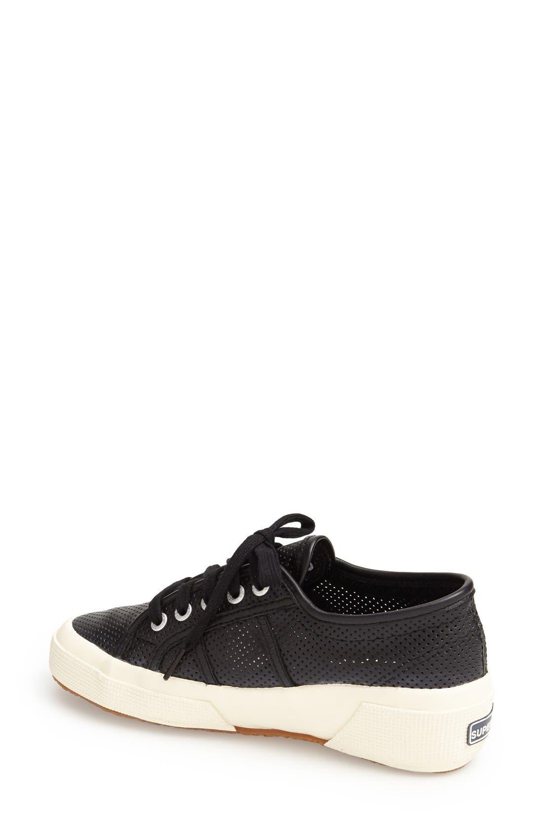 Alternate Image 2  - Superga 'Perforated Cotu' Leather Sneaker (Women)