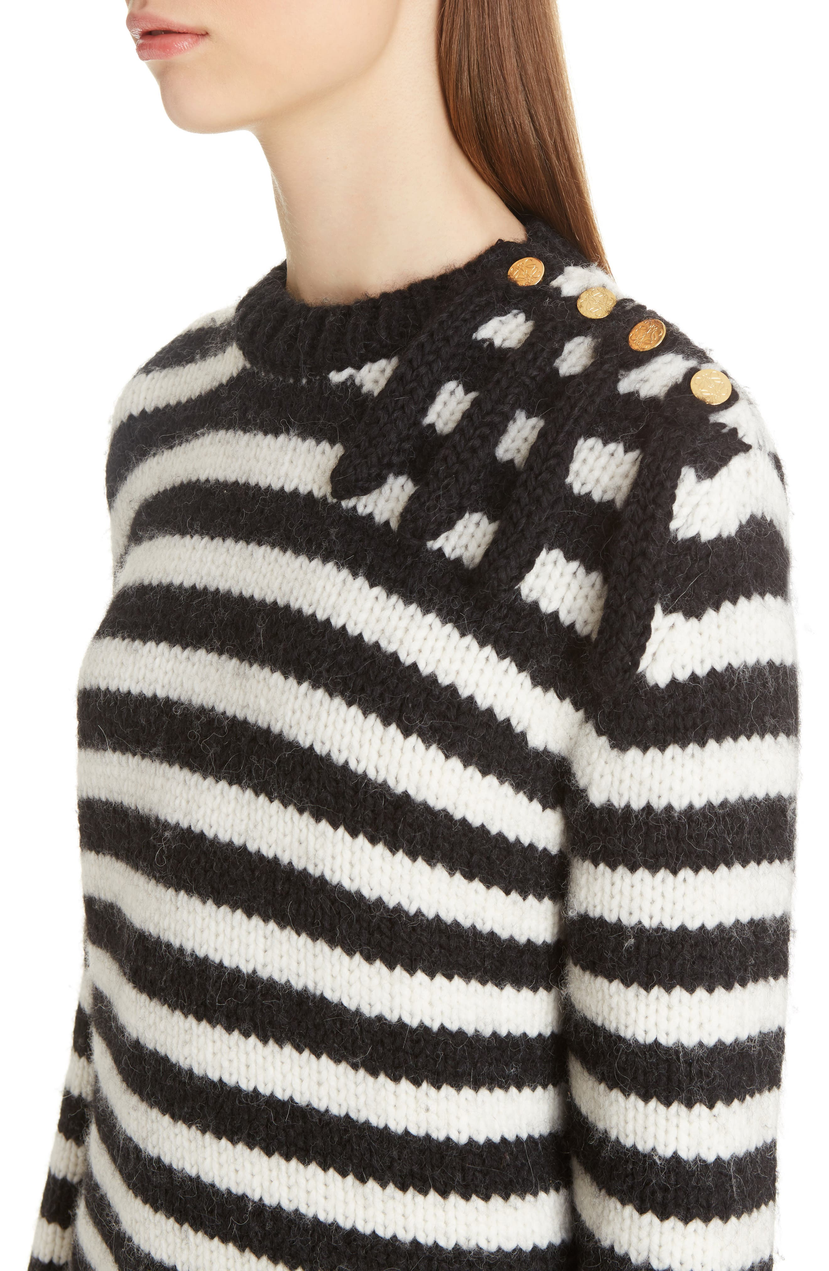 Alternate Image 4  - Loewe Stripe Wool & Alpaca Sweater