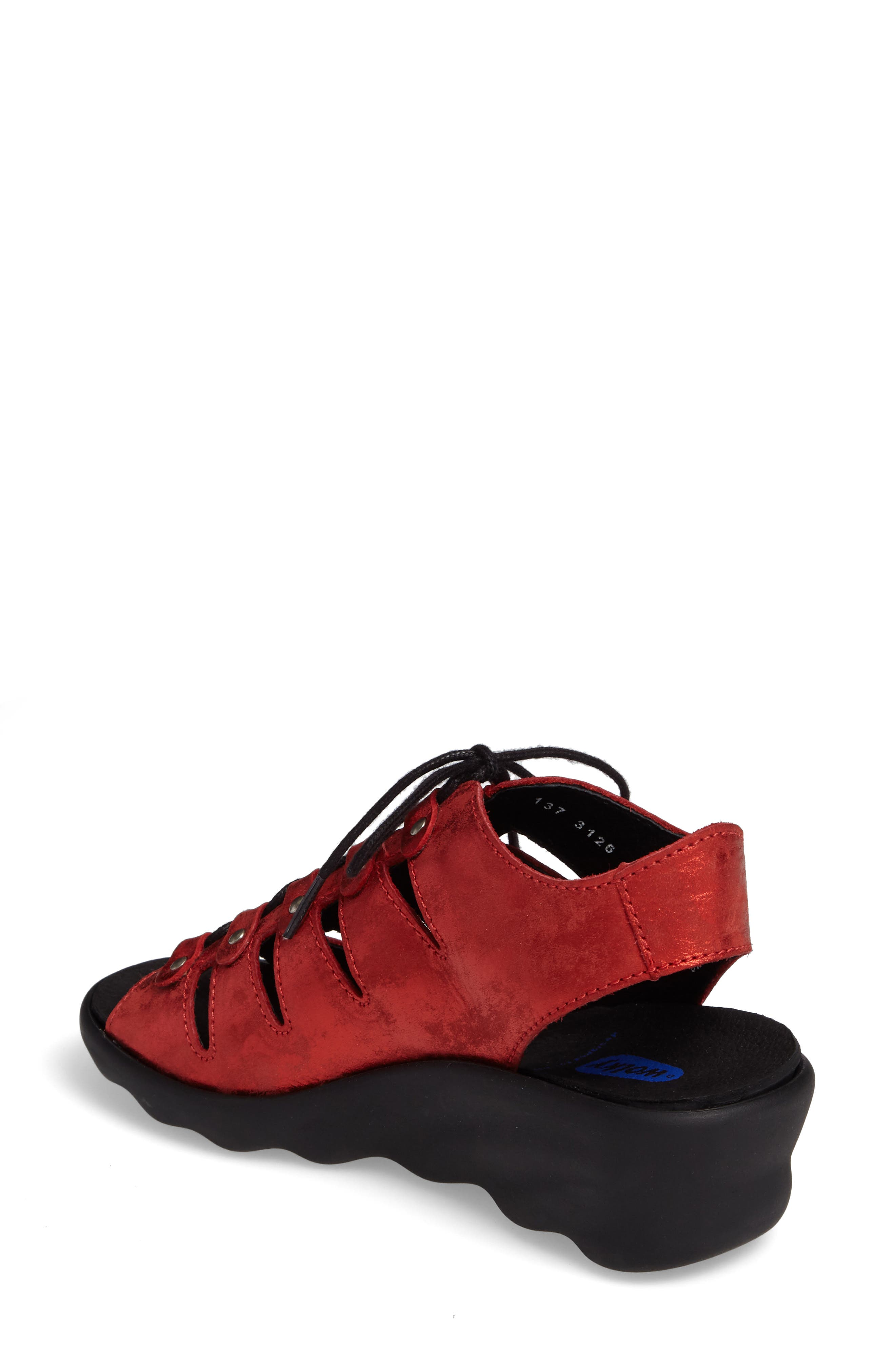 Arena Sandal,                             Alternate thumbnail 2, color,                             Red Nubuck Leather
