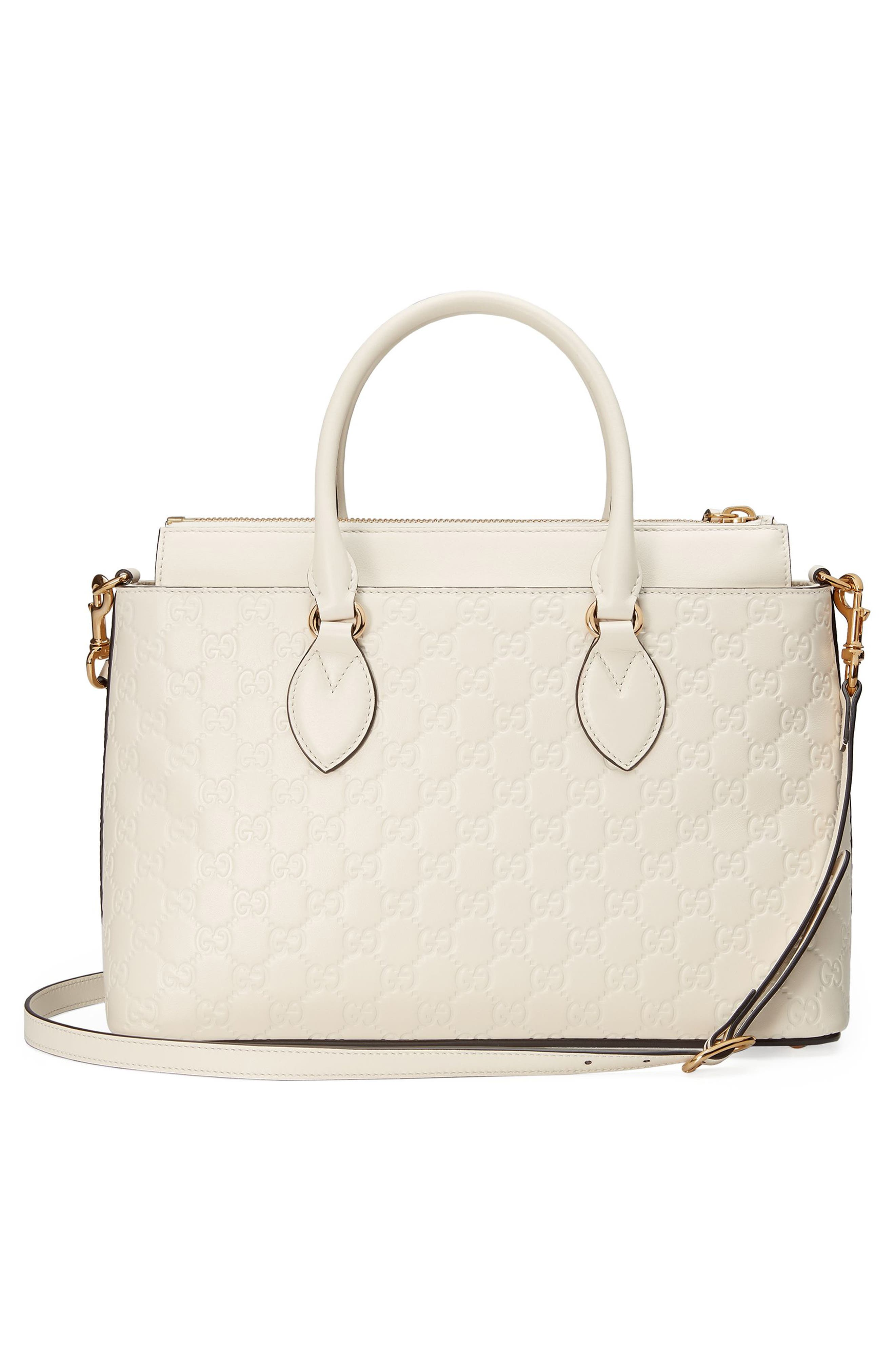 Alternate Image 2  - Gucci Small Top Handle Signature Leather Satchel