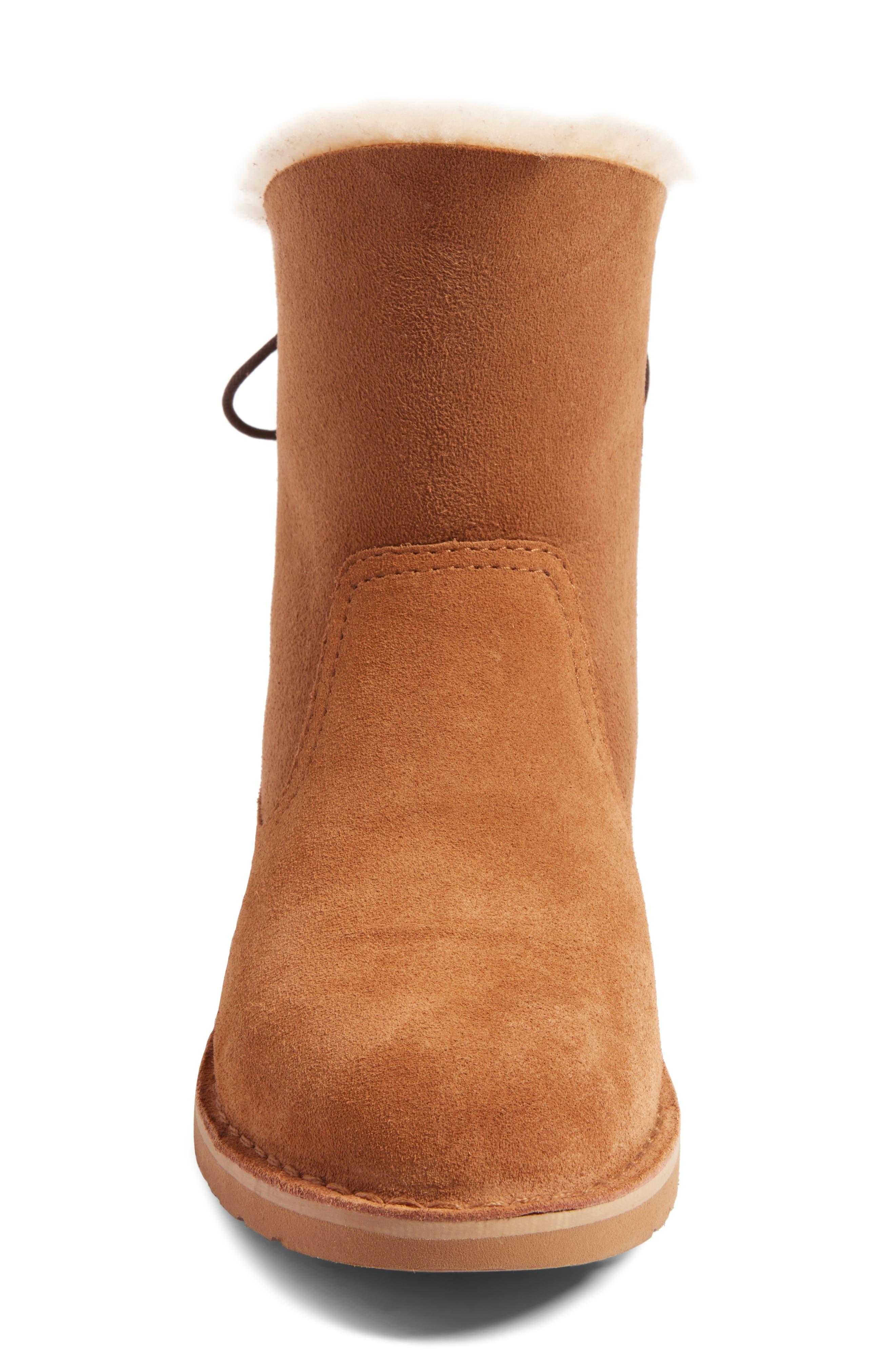 Alternate Image 4  - UGG® Naiyah Lace-Back Genuine Shearling Boot (Women)