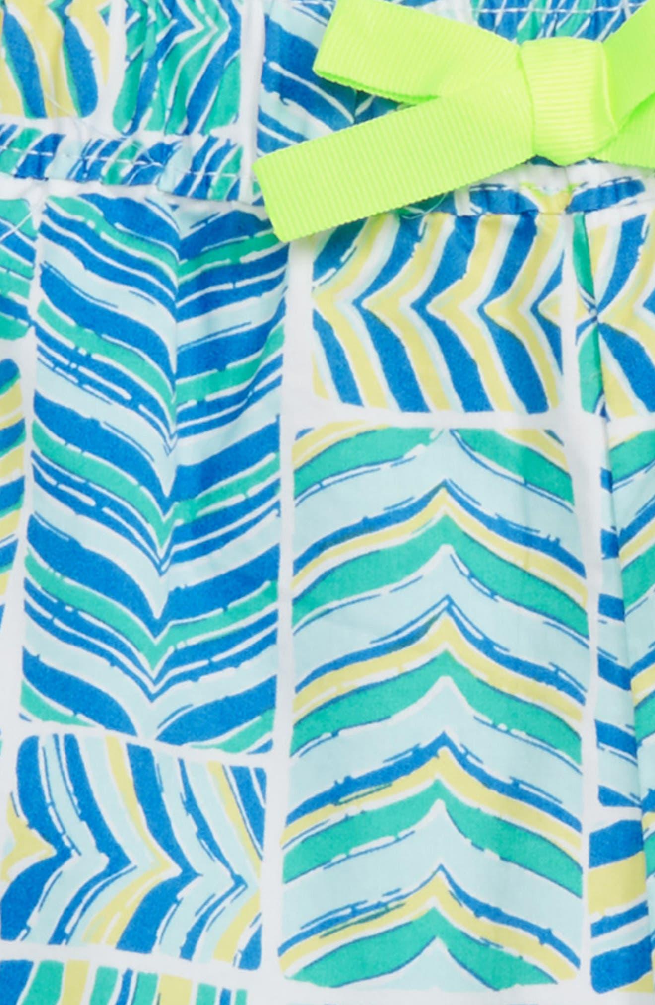 Whaletail Patchwork Shorts,                             Alternate thumbnail 3, color,                             Azure Blue