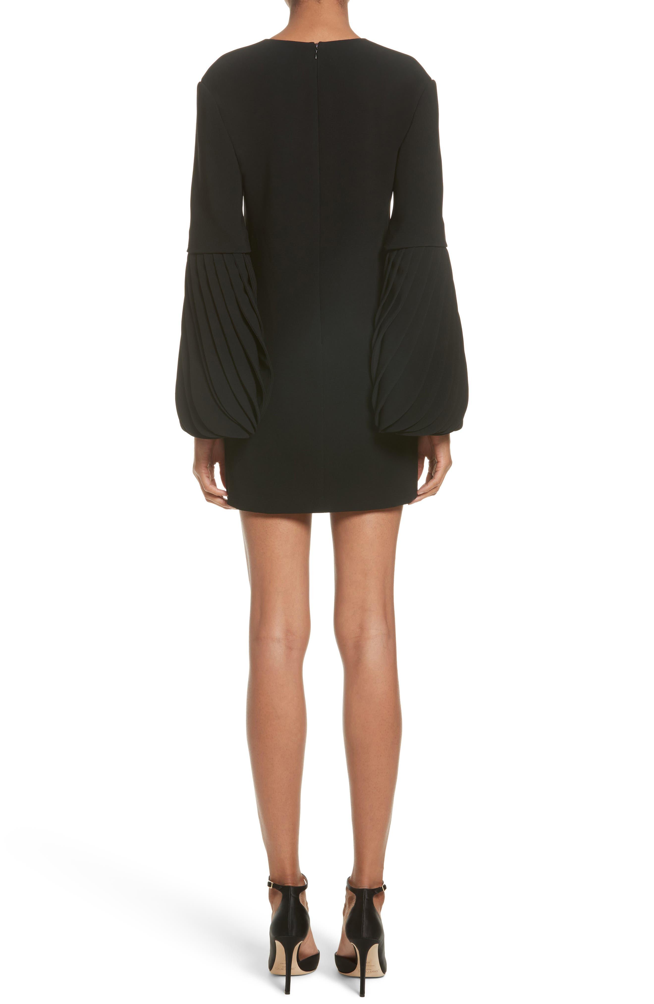 Alternate Image 2  - Brandon Maxwell Petal Sleeve Crepe Dress