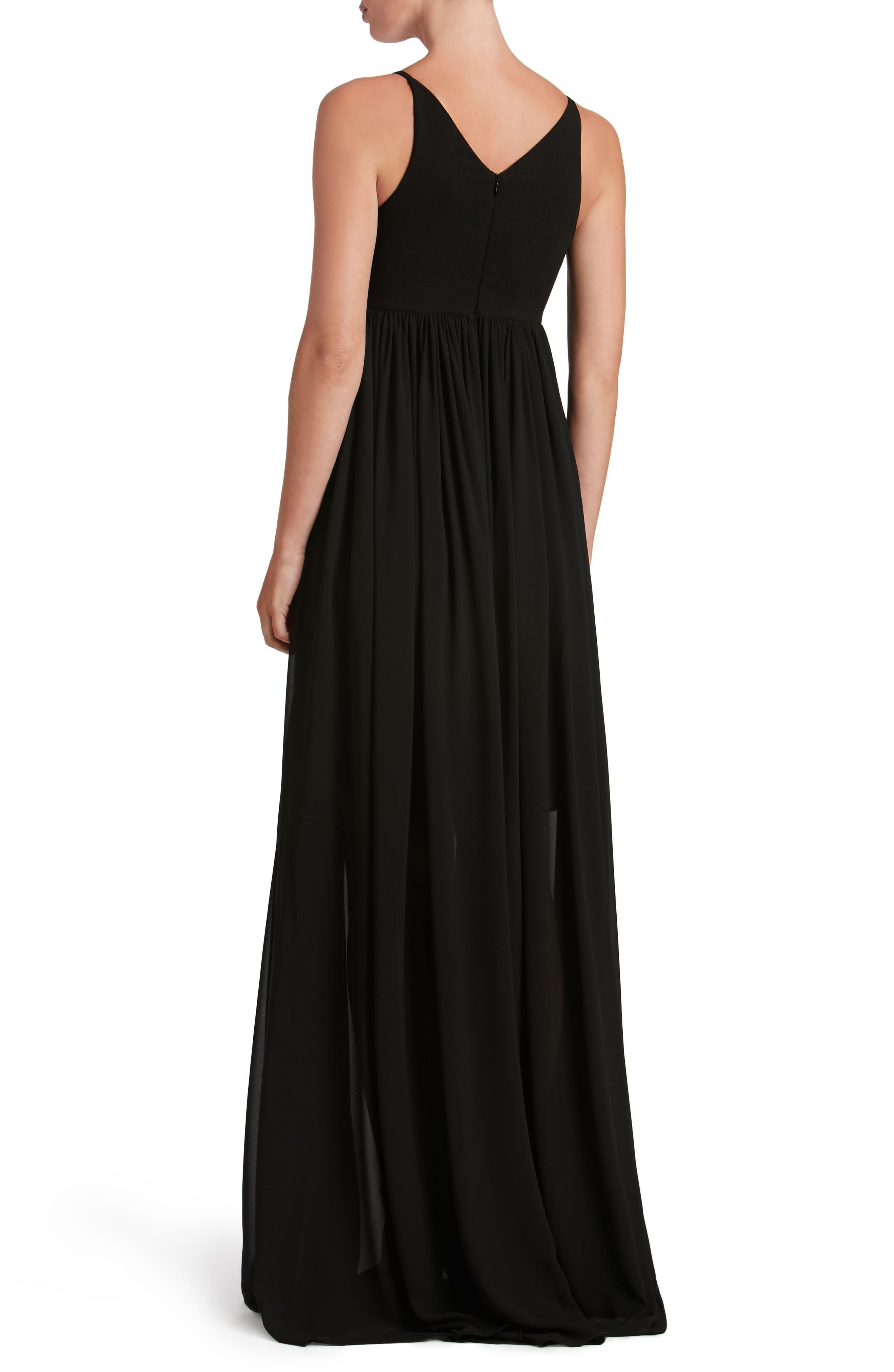 Alternate Image 2  - Dress the Population Phoebe Chiffon Gown