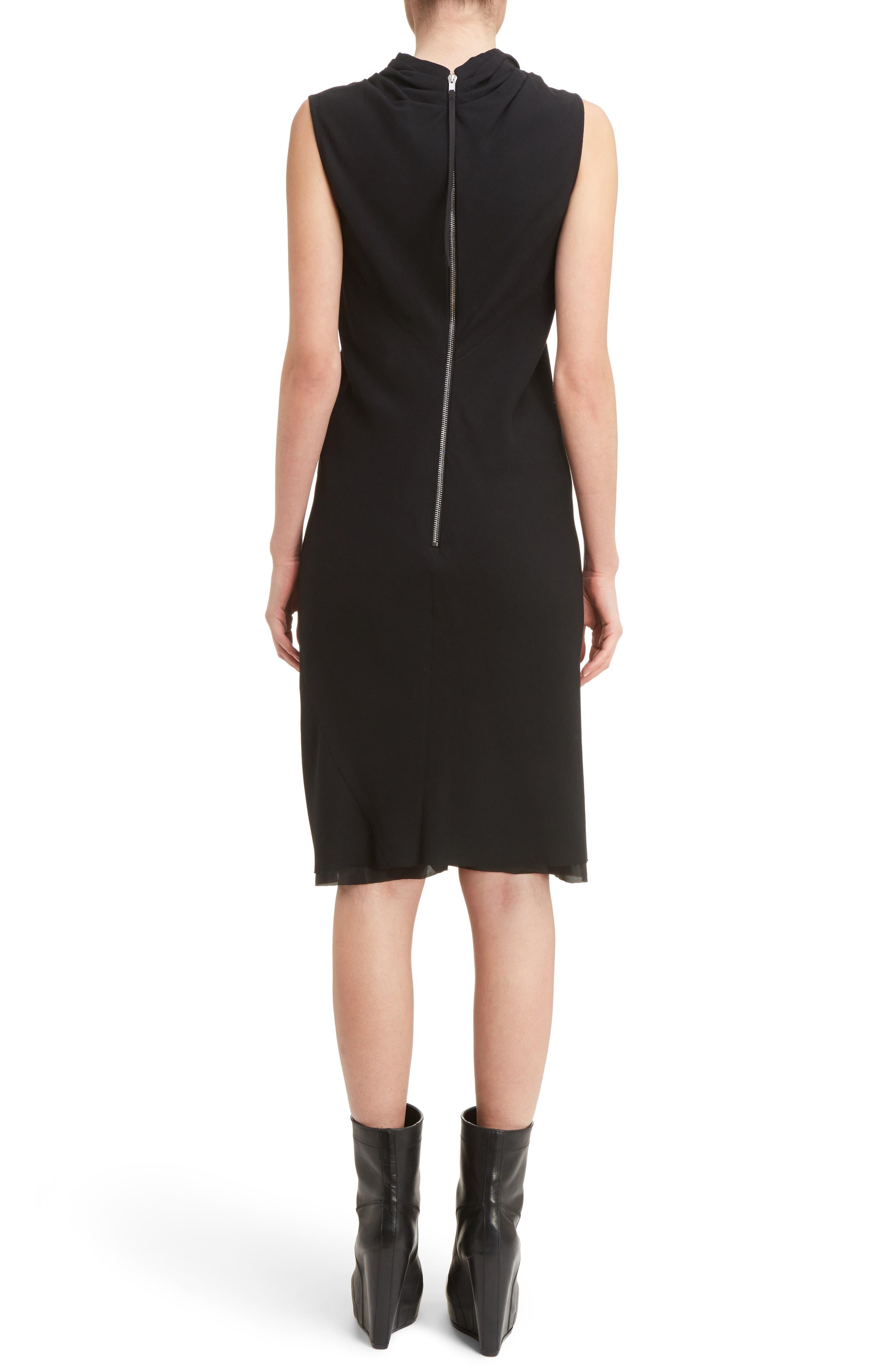 Drape Neck Dress,                             Alternate thumbnail 2, color,                             Black