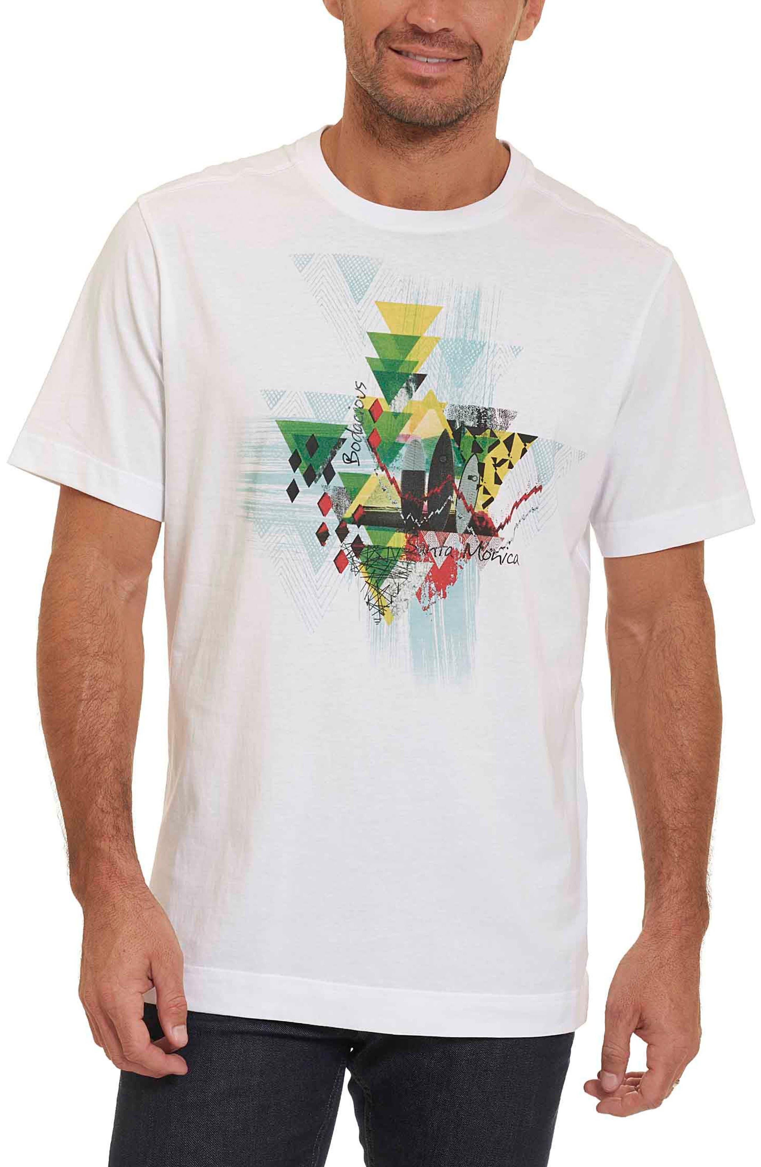 Monica Pier Classic Fit Graphic T-Shirt,                         Main,                         color, White
