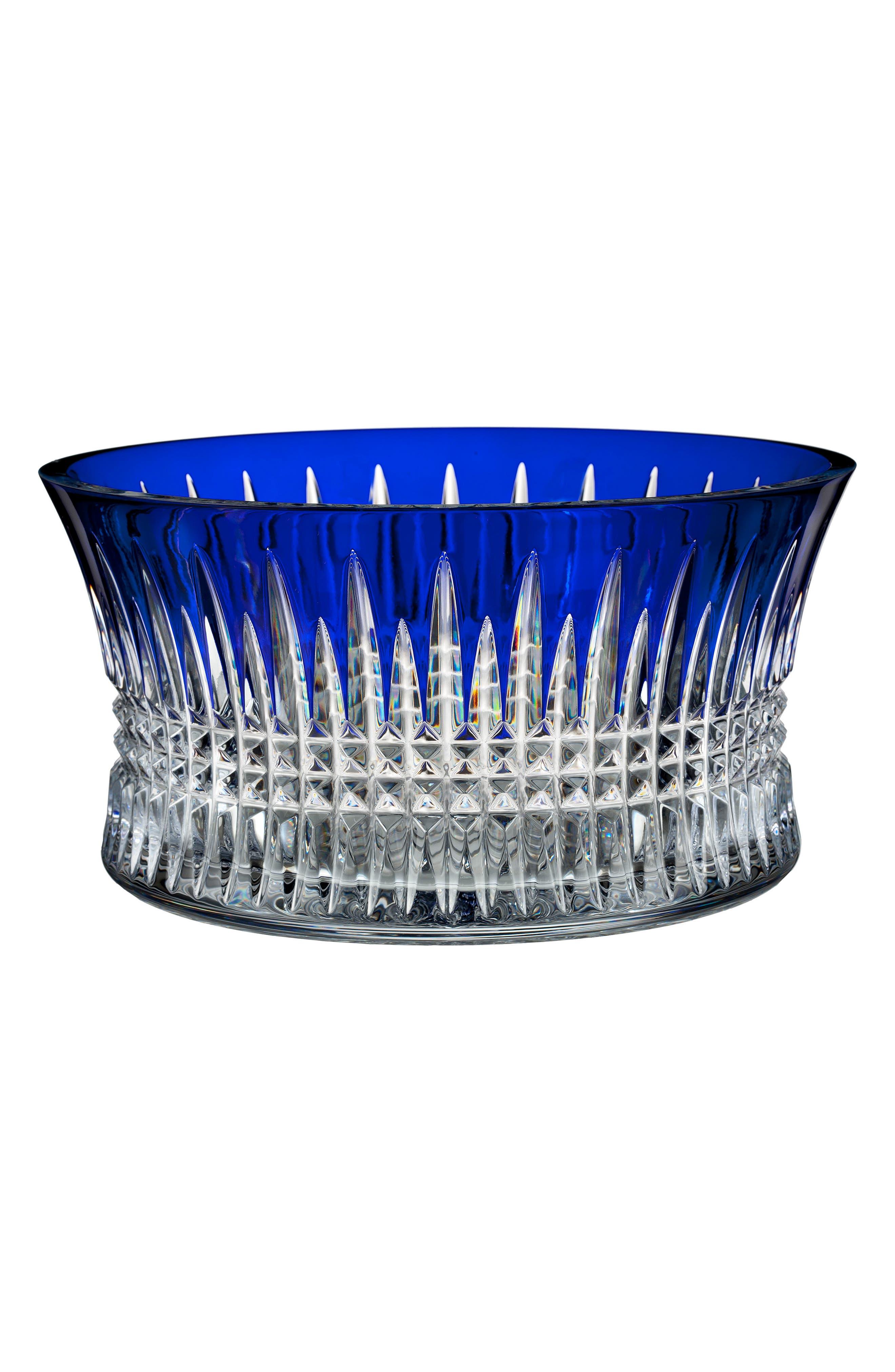 Lismore Diamond Cobalt Bowl,                         Main,                         color, Crystal