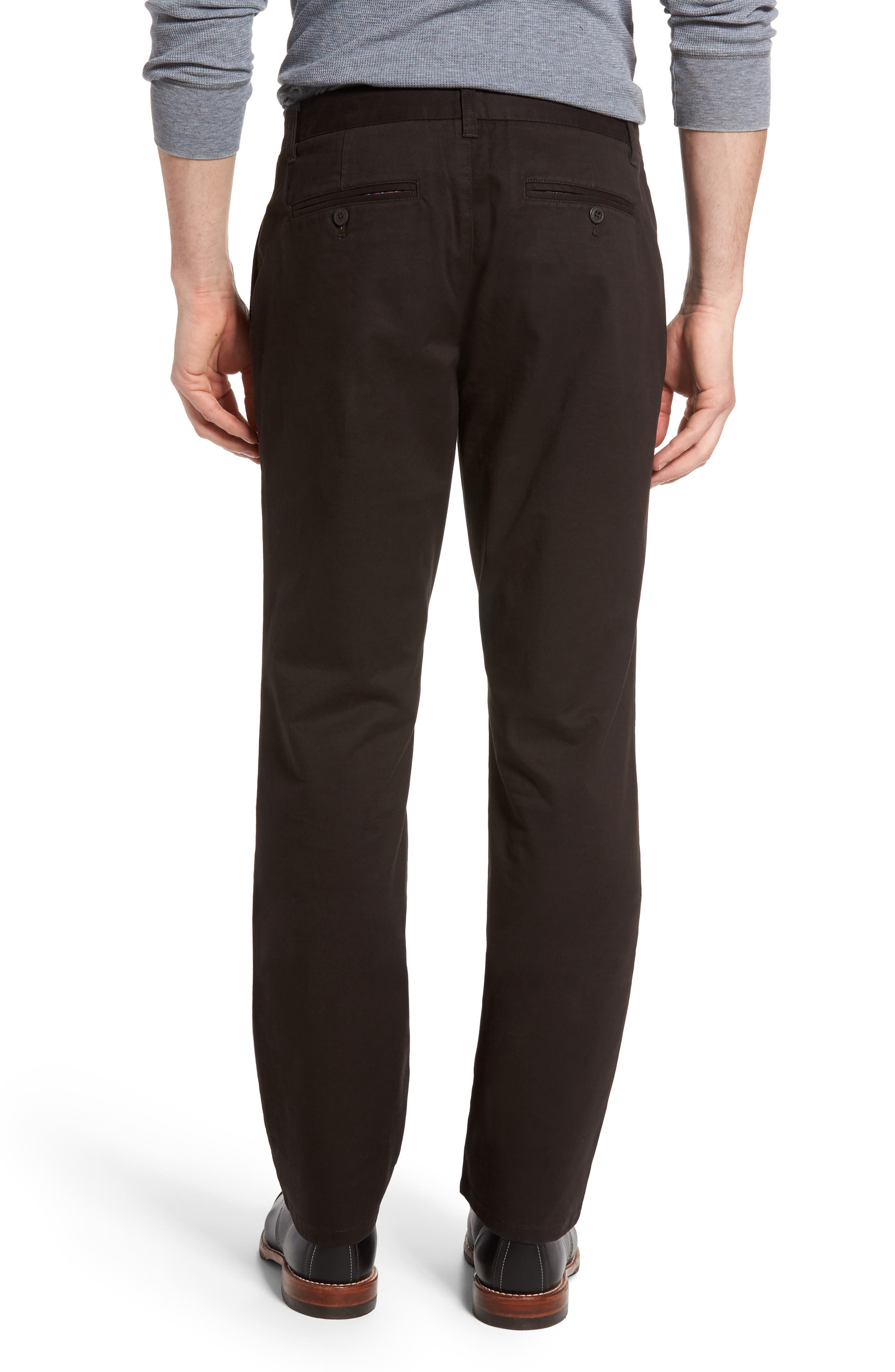 Straight Leg Stretch Washed Chinos,                             Alternate thumbnail 2, color,                             Chocolate Ale