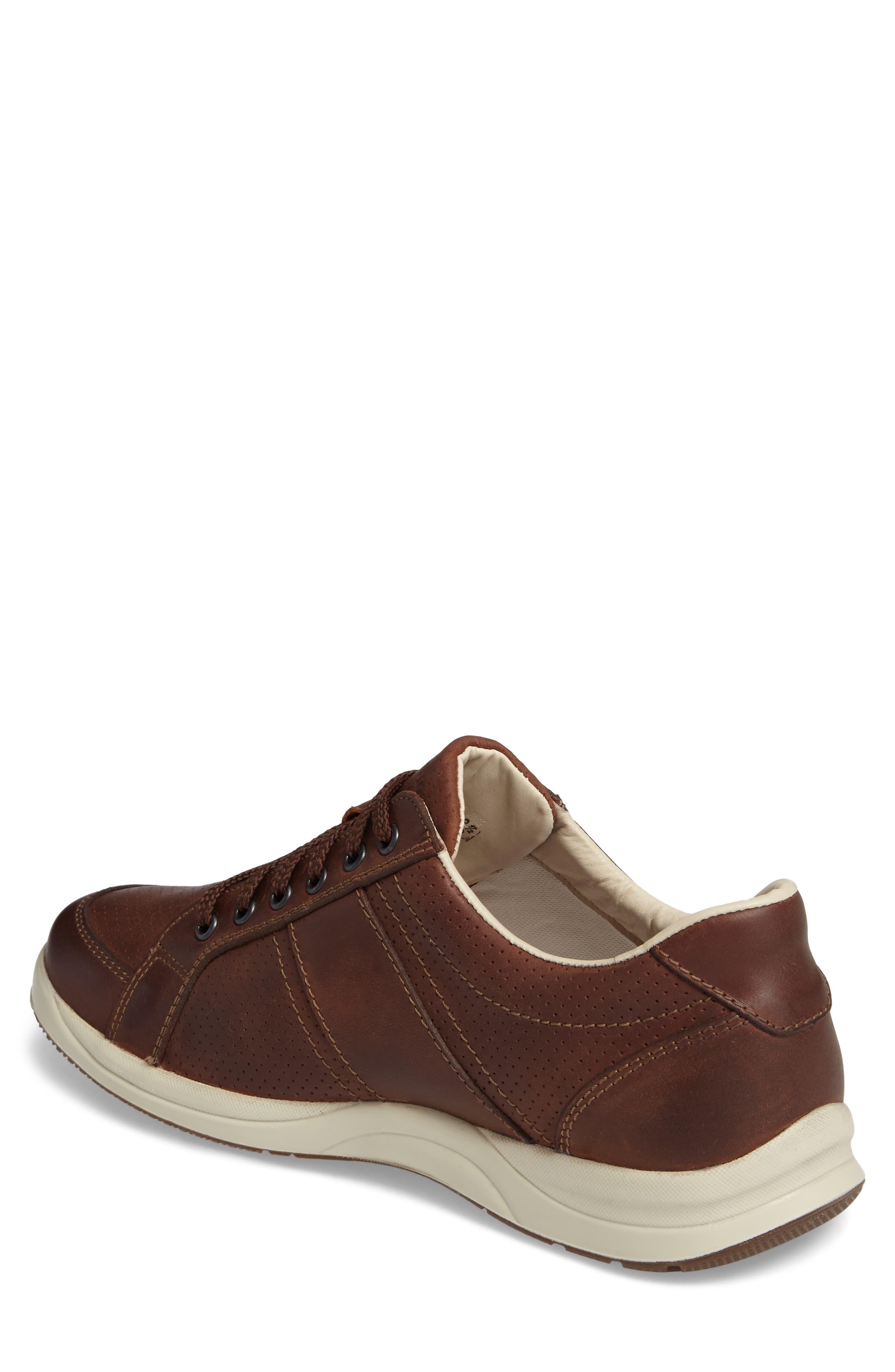 'Hero' Perforated Sneaker,                             Alternate thumbnail 2, color,                             Chestnut Nubuck Leather