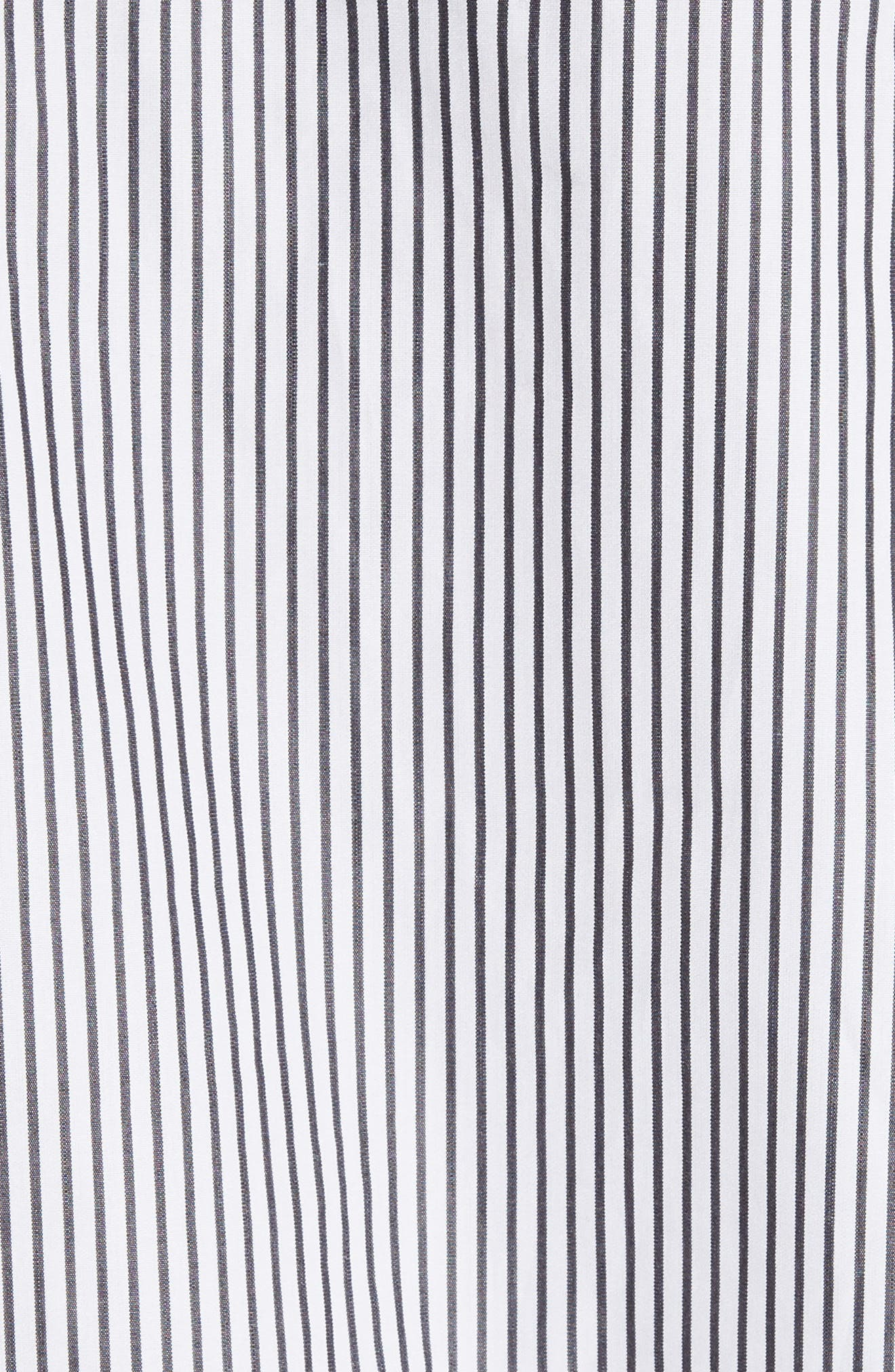 Bow Sleeve Shirt,                             Alternate thumbnail 5, color,                             Black/ White