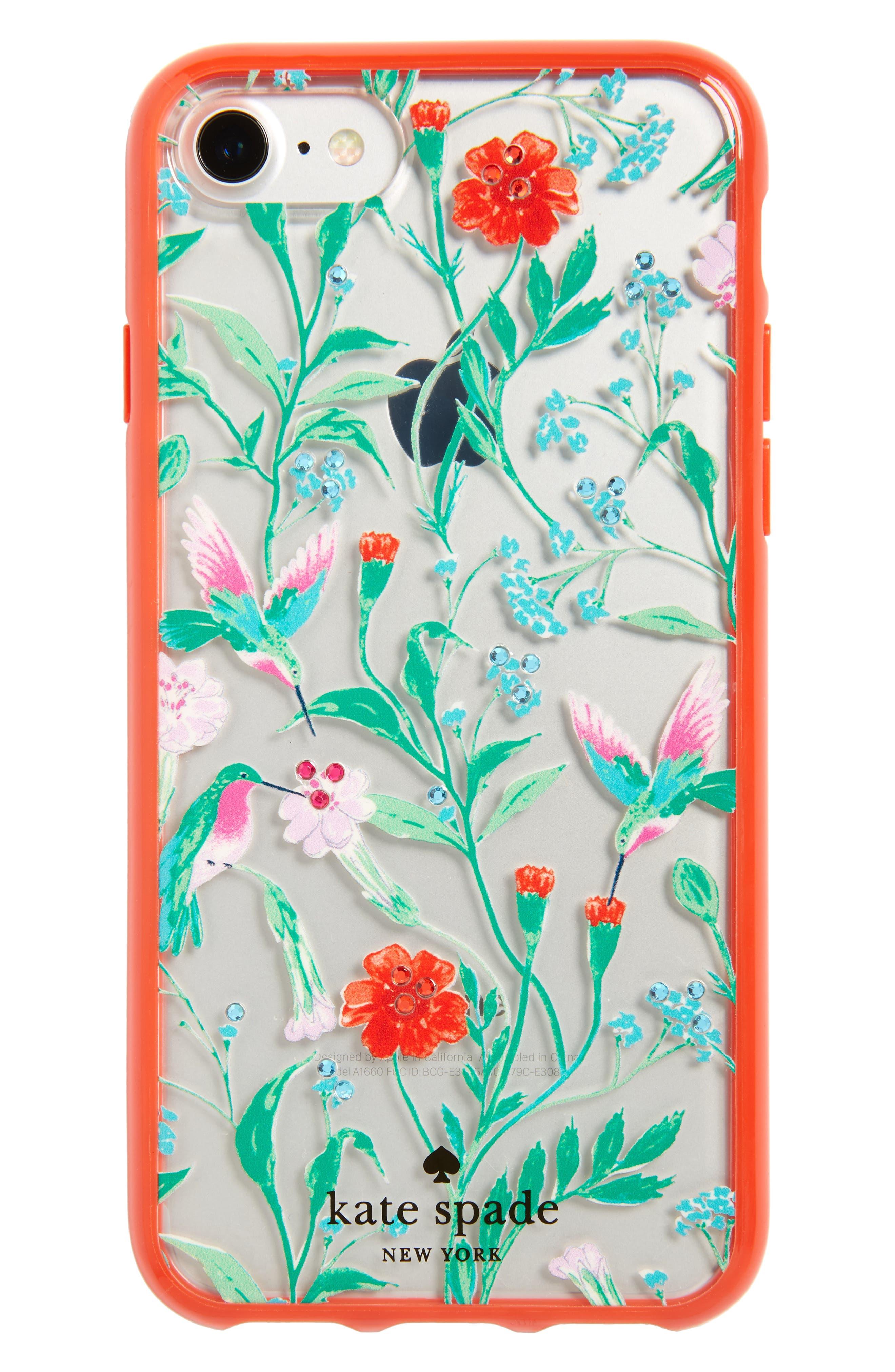 Main Image - kate spade new york jeweled jardin iPhone 7/8 case