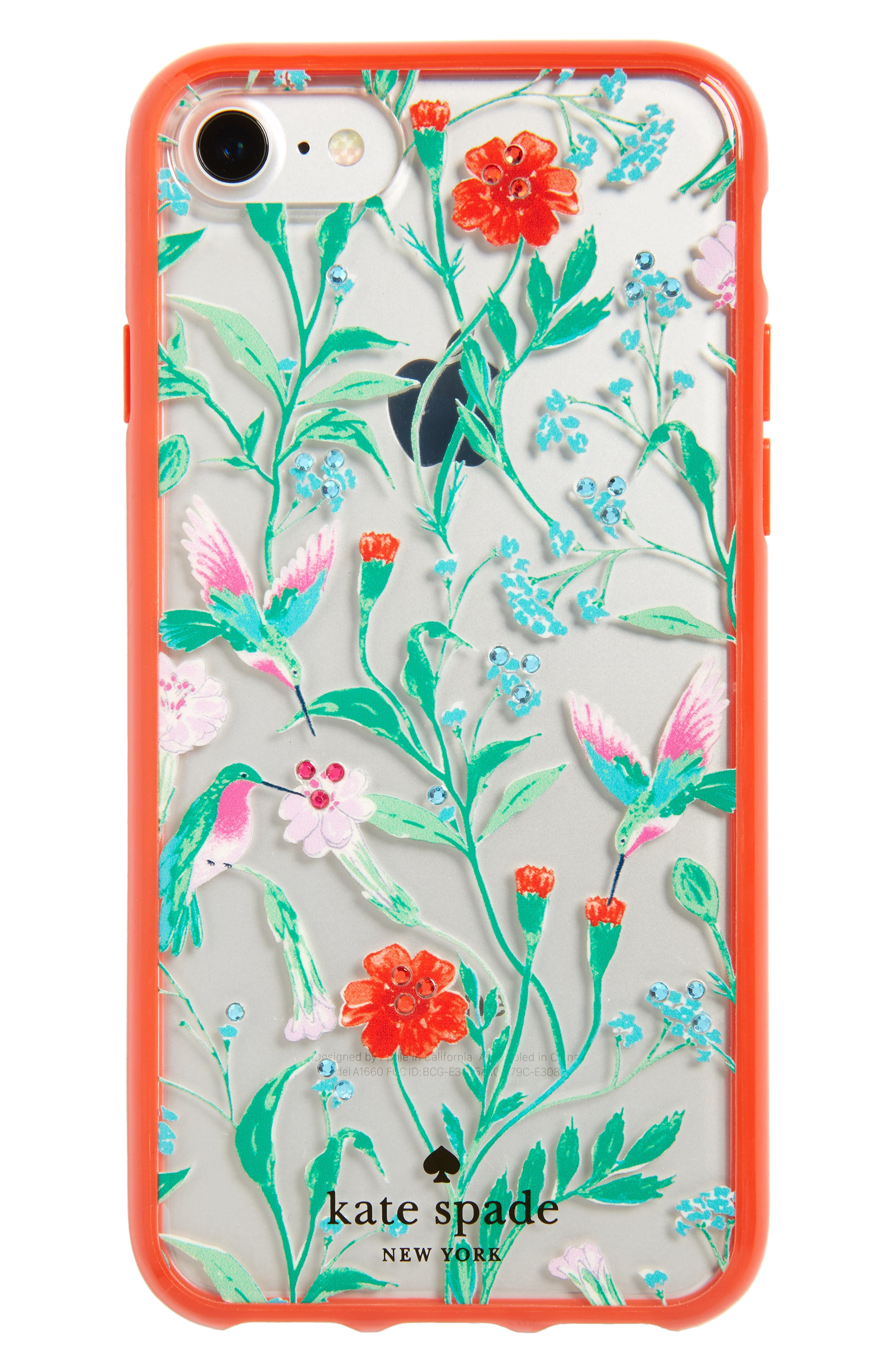 jeweled jardin iPhone 7/8 case,                         Main,                         color, Clear Multi