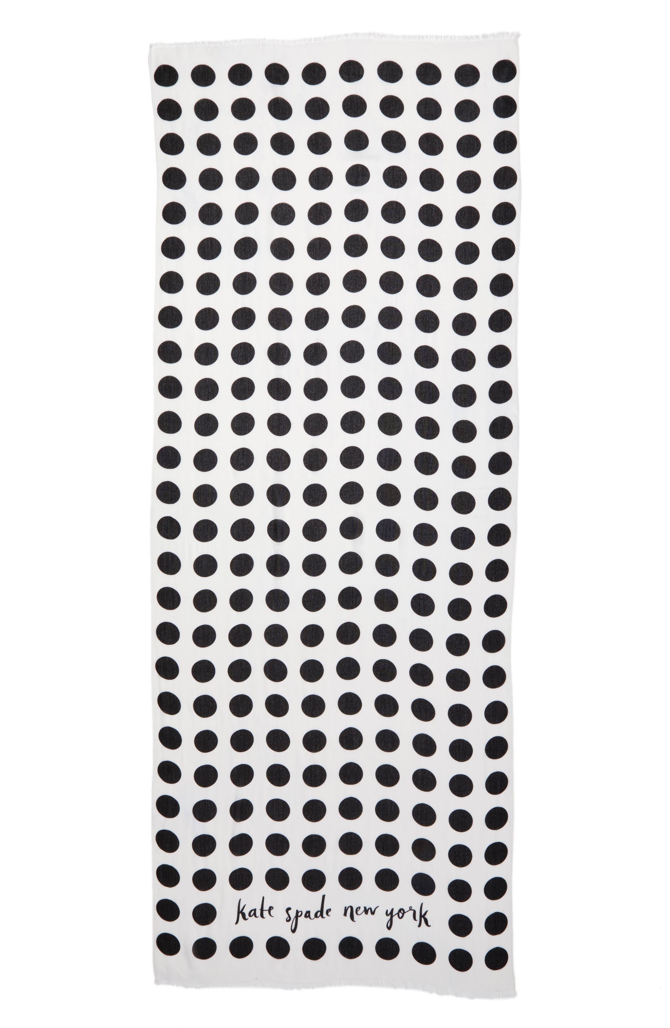 grid dot scarf,                             Alternate thumbnail 2, color,                             Cream