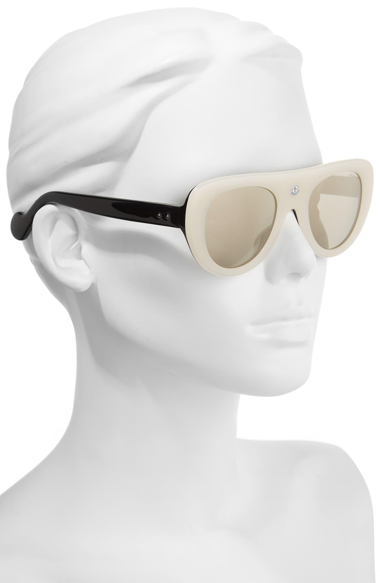 Alternate Image 2  - Moncler 51mm Shield Sunglasses