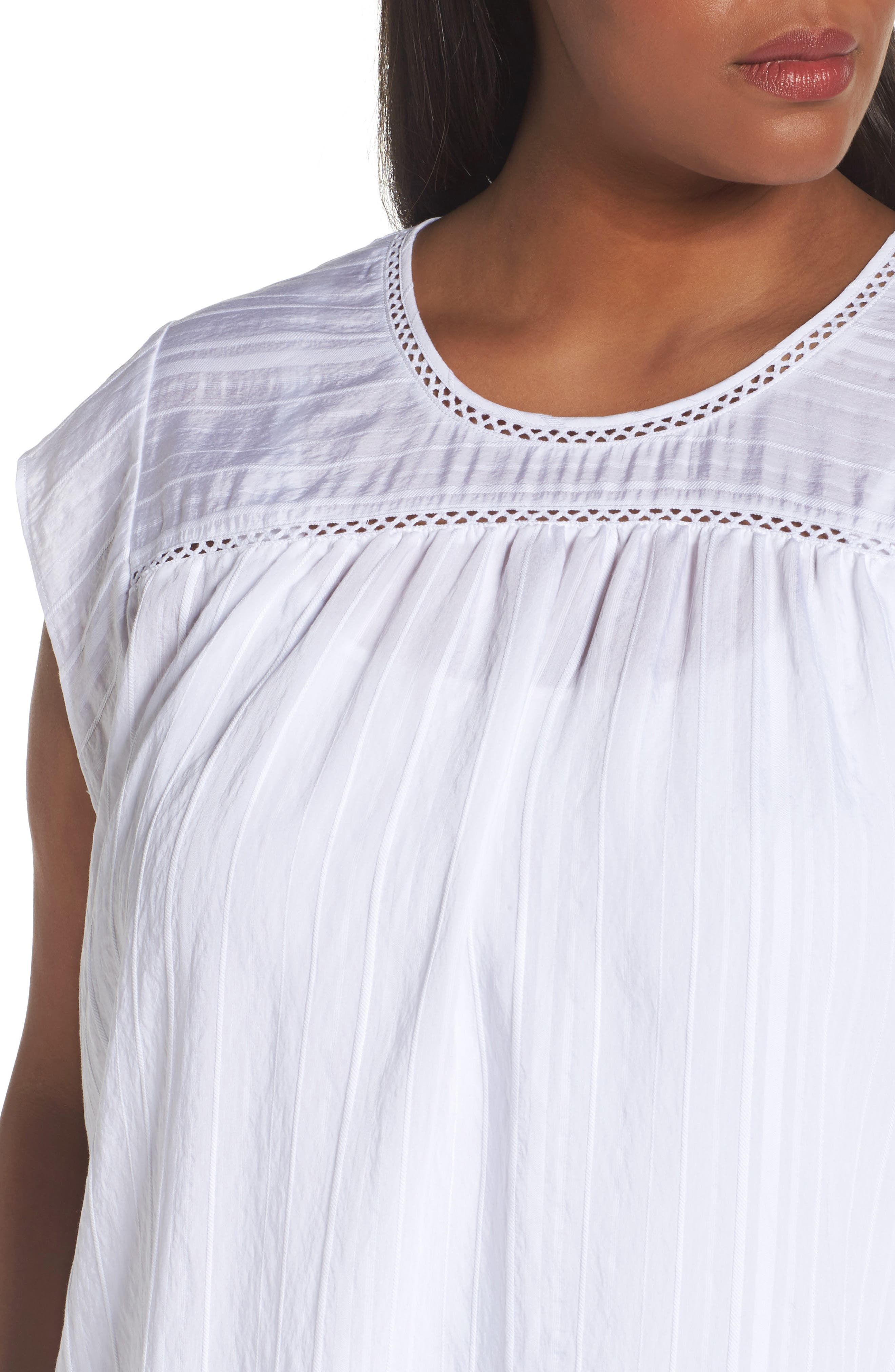 Alternate Image 4  - Sejour Cap Sleeve Top (Plus Size)