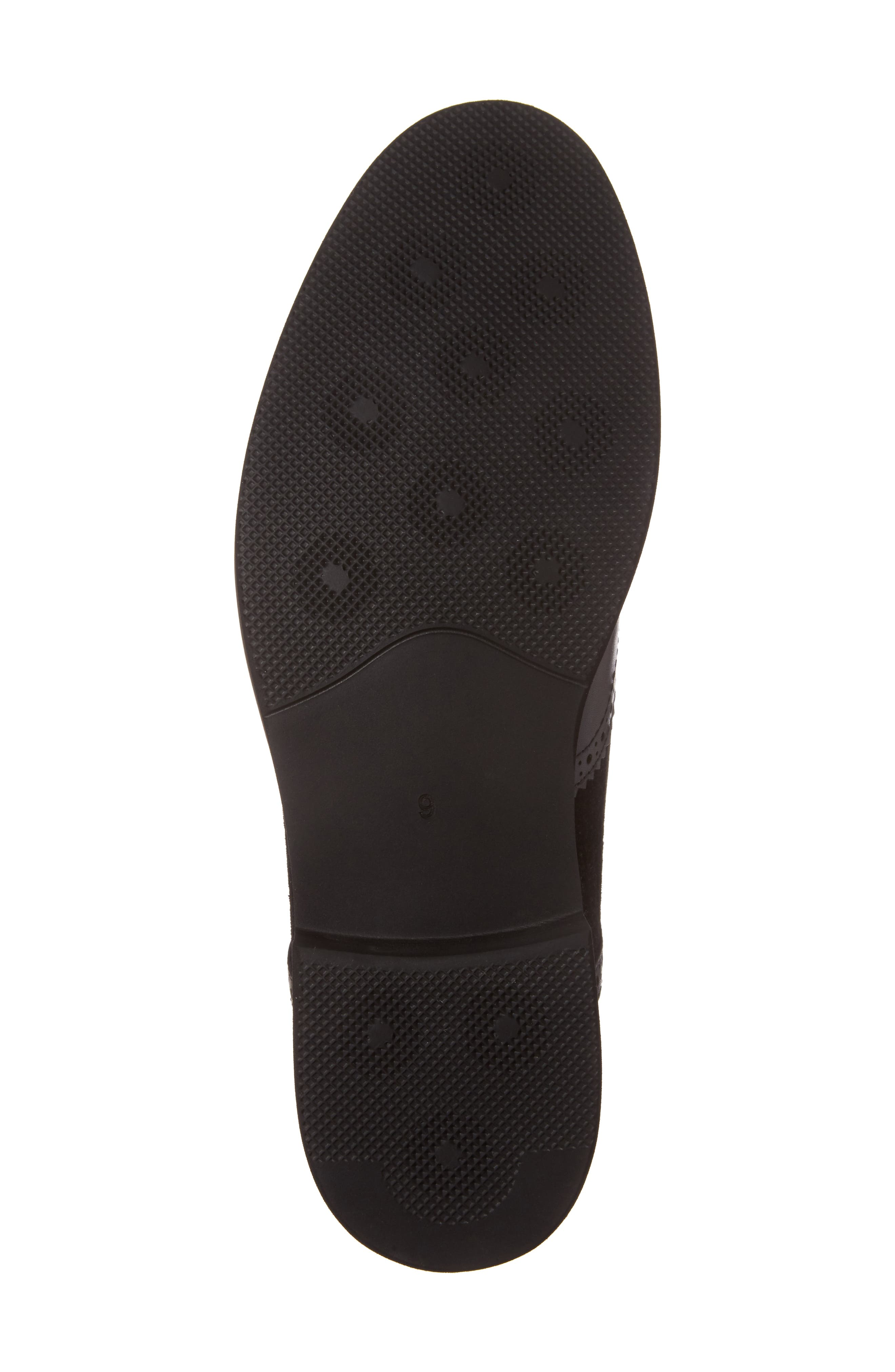 Maritime Spectator Shoe,                             Alternate thumbnail 6, color,                             Black Leather