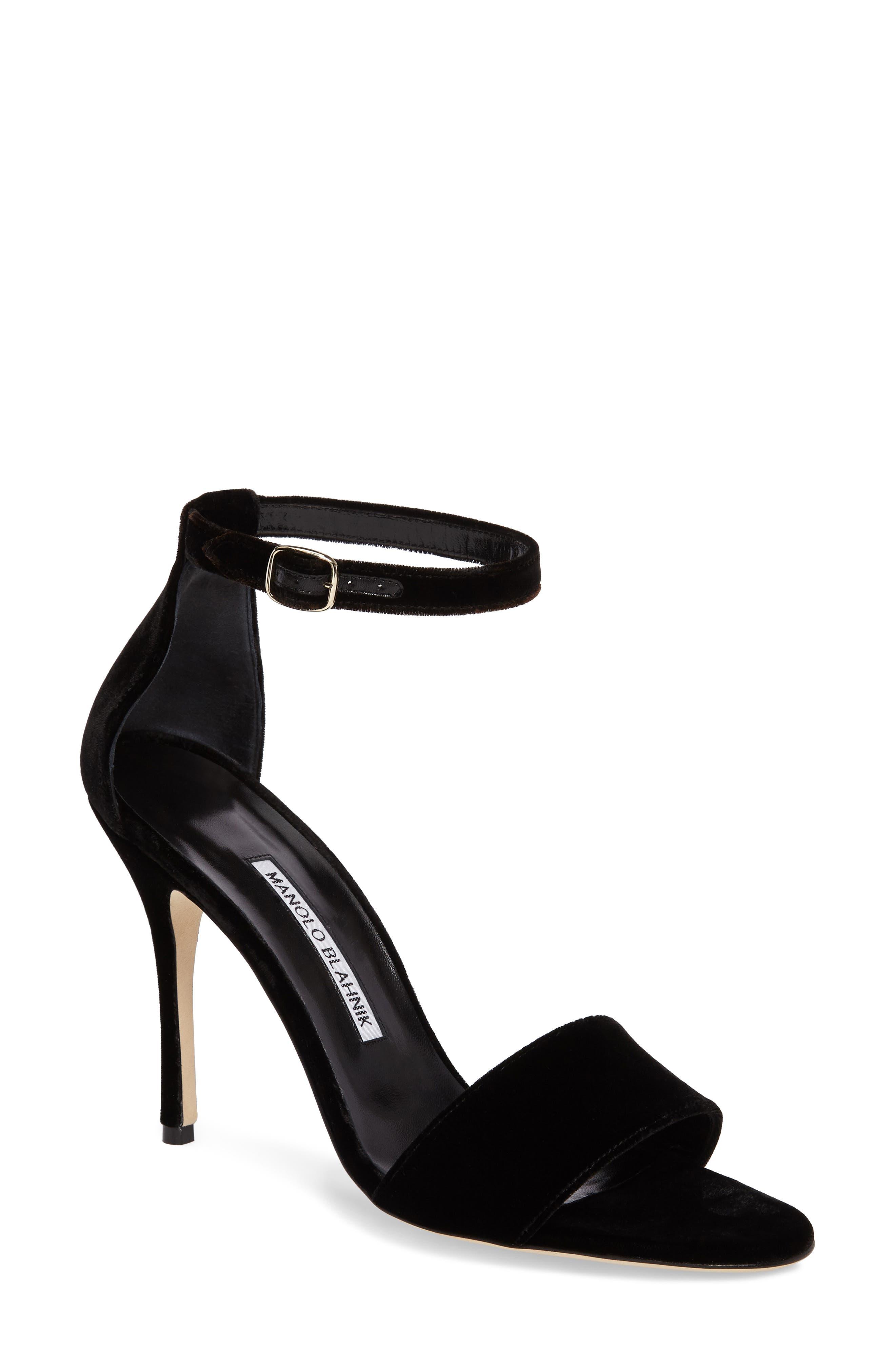 Tres Sandal,                         Main,                         color, Black Velvet