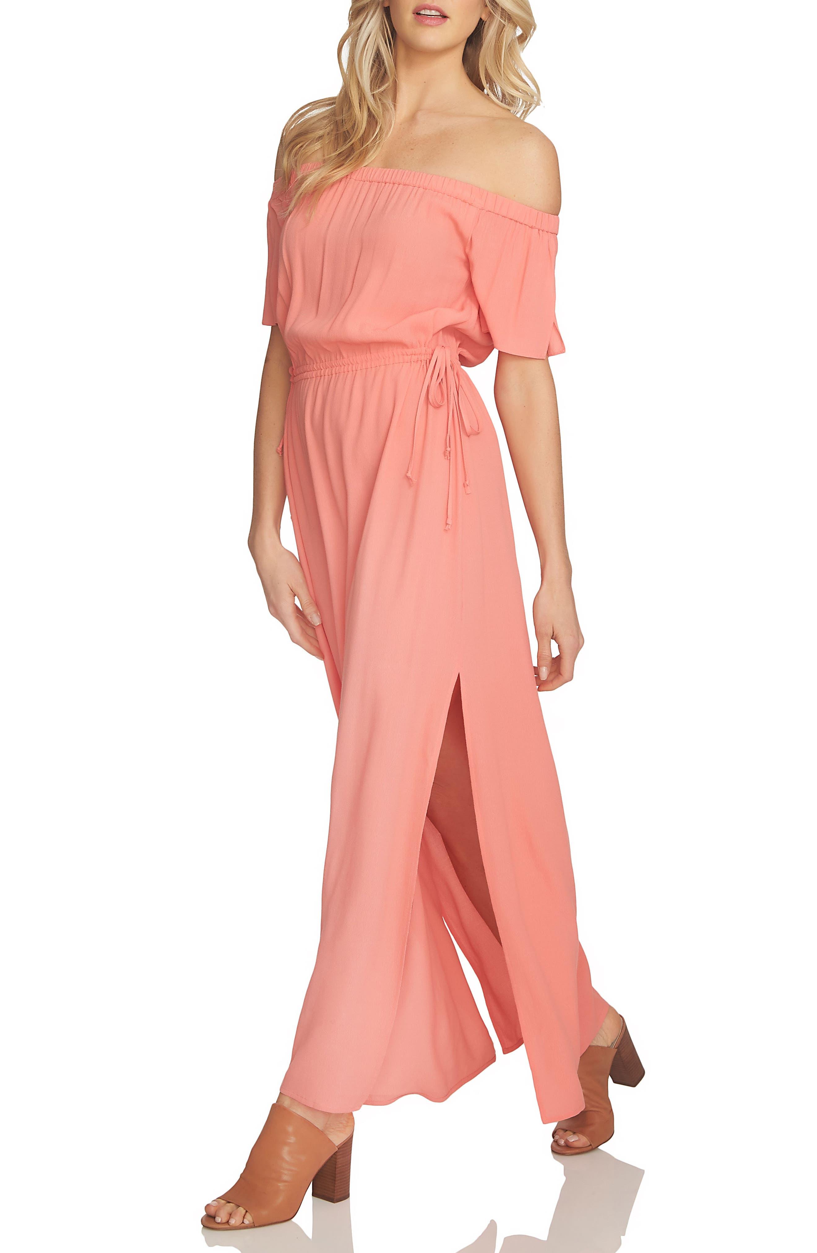 Alternate Image 1 Selected - 1.STATE Blouson Off the Shoulder Maxi Dress