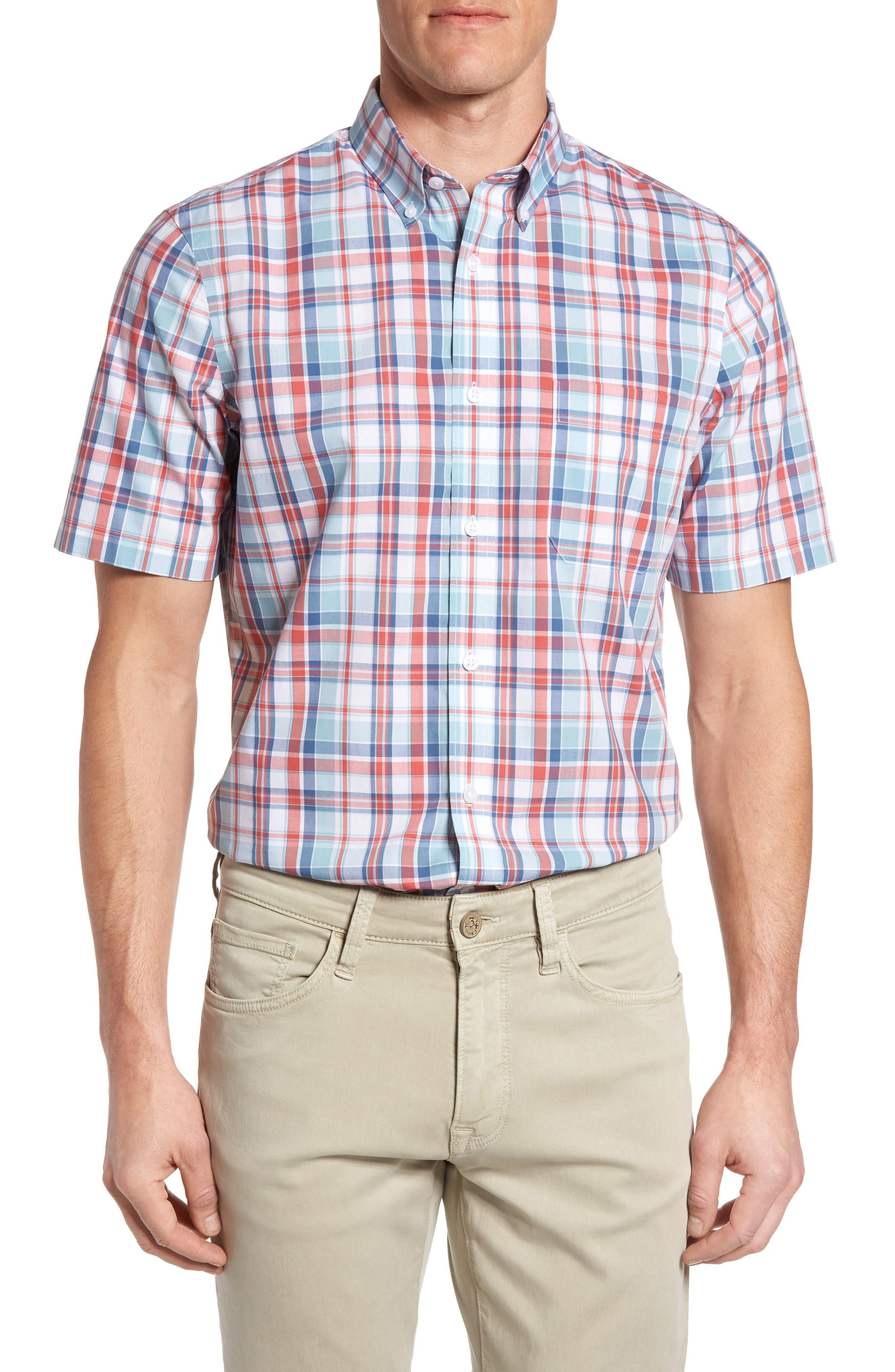 Nordstrom Men's Shop Smartcare™ Regular Fit Plaid Sport Shirt (Regular & Tall)