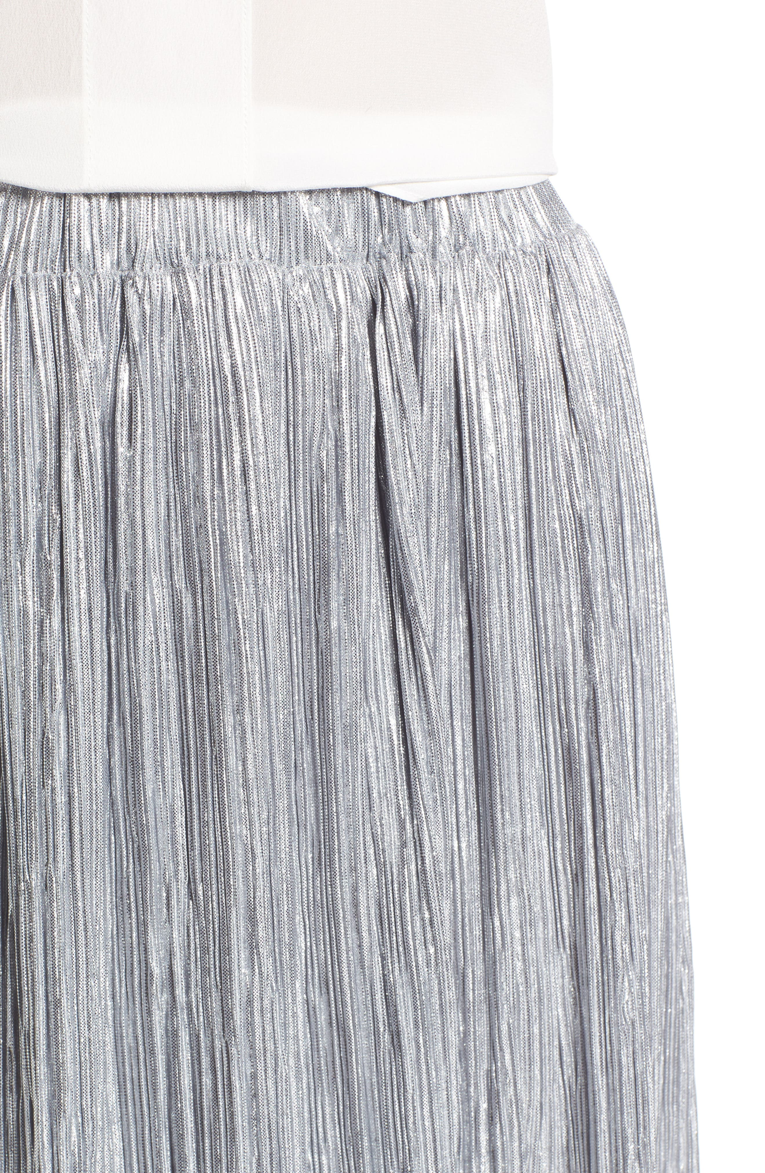 Alternate Image 4  - Vince Camuto Pleat Foiled Knit Skirt
