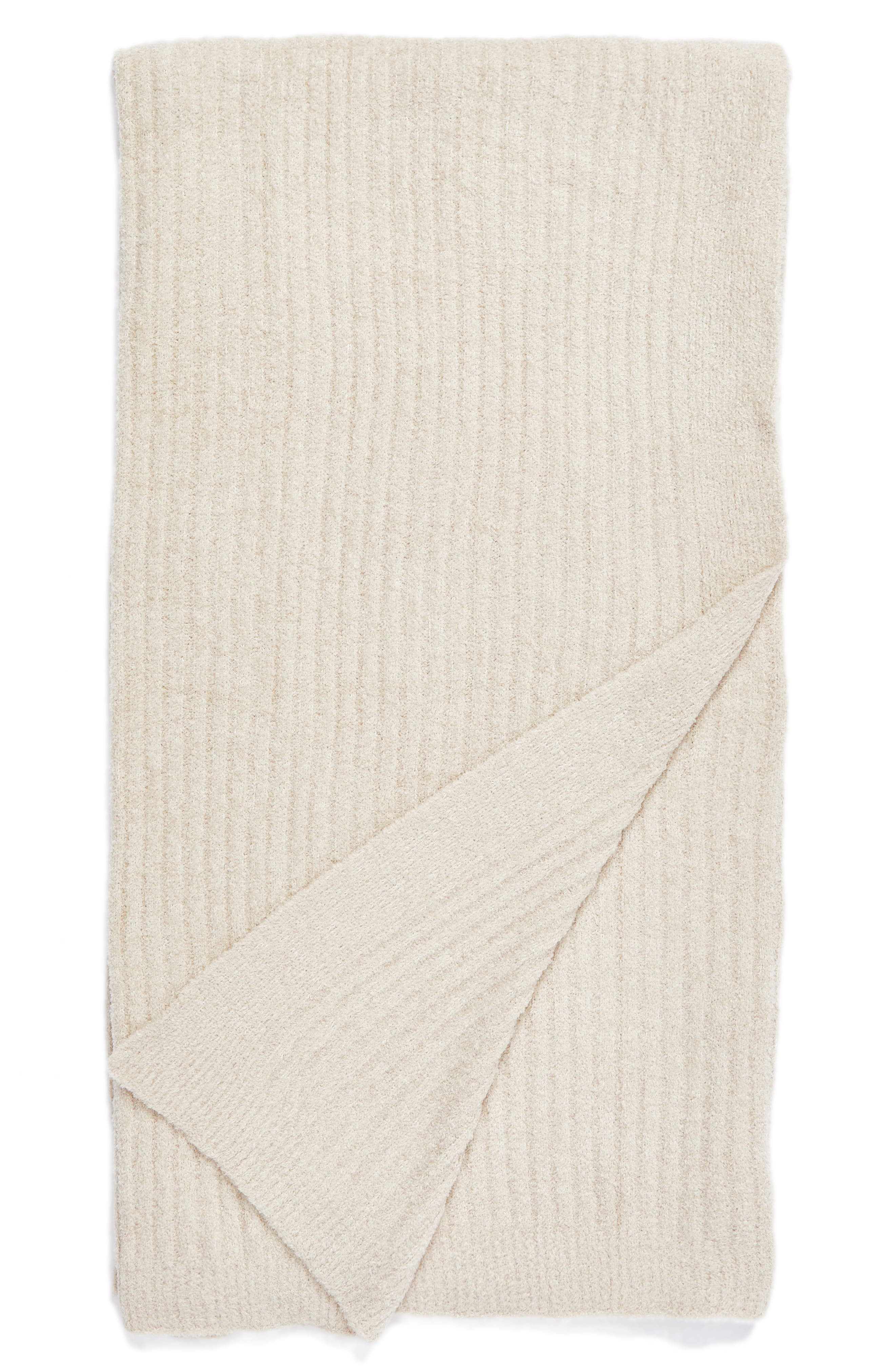 Cozychic<sup>®</sup> Ribbed Throw Blanket,                         Main,                         color, Stone