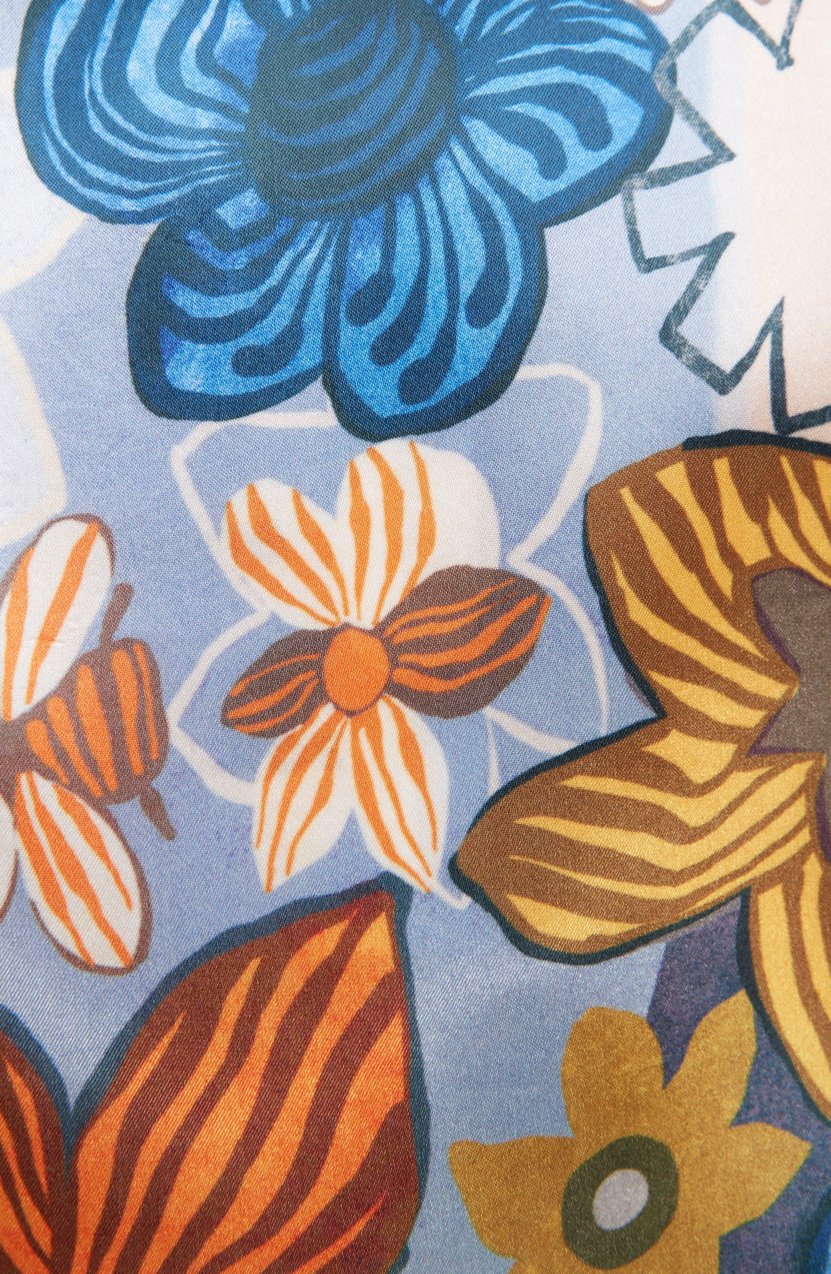 Buse Floral Print Blouse,                             Alternate thumbnail 3, color,                             Retro Flower Pink