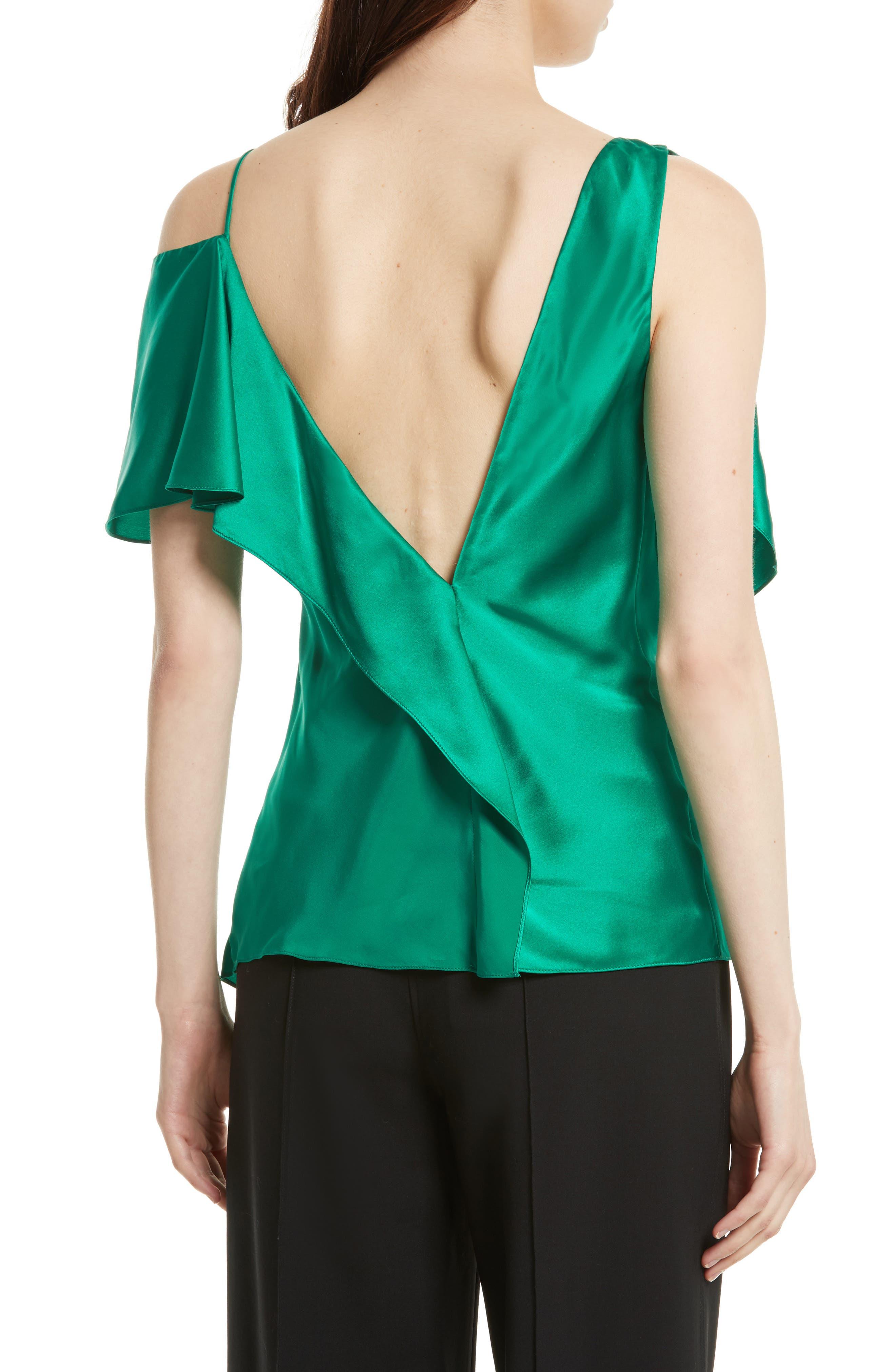 Alternate Image 2  - Diane von Furstenberg Asymmetrical Sleeve Ruffle Blouse