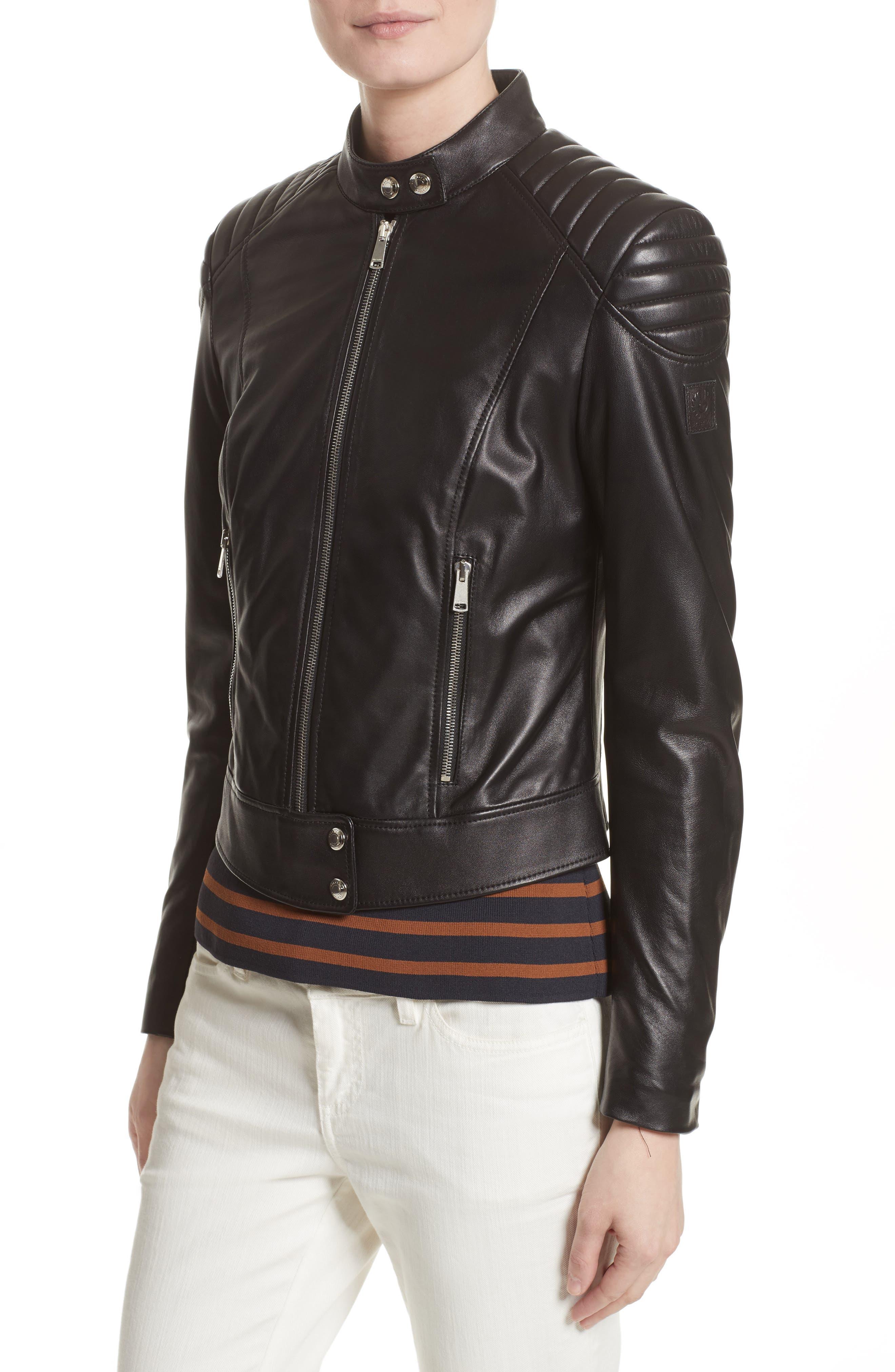 Alternate Image 6  - Belstaff Mollison Leather Moto Jacket