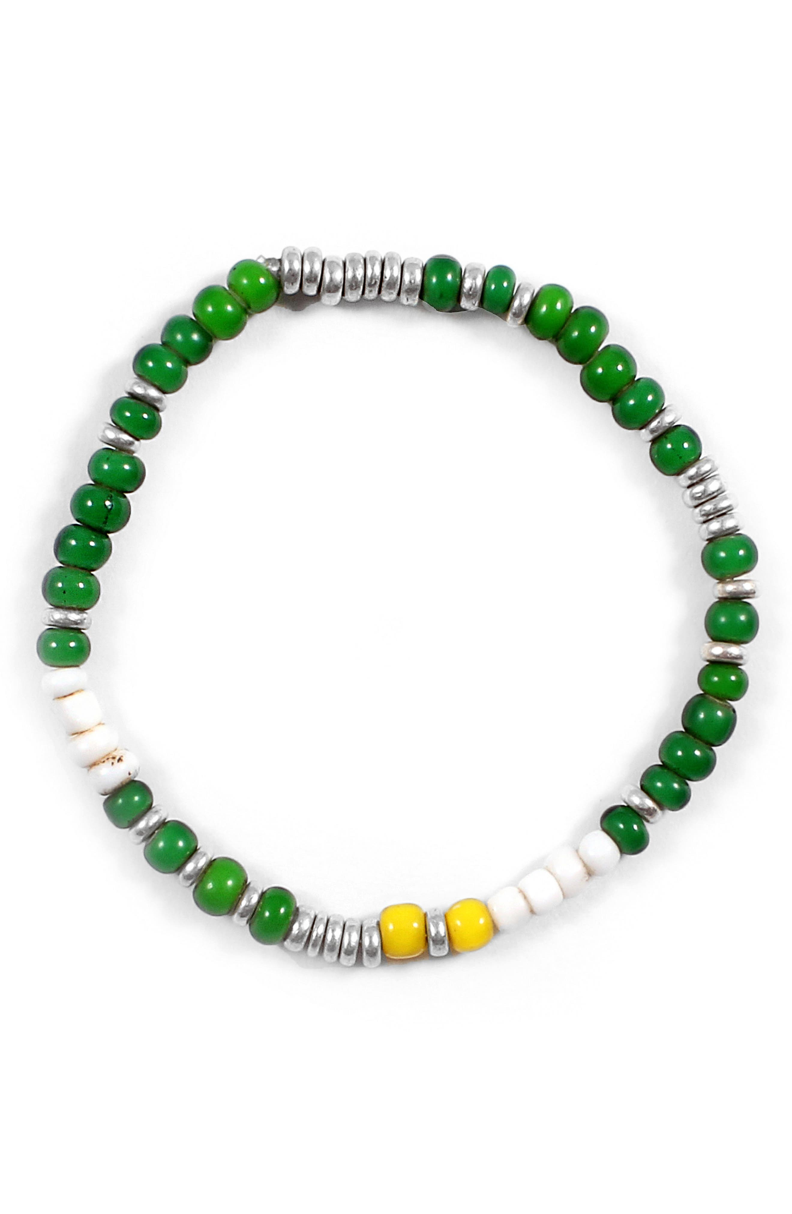 Chill Morse Bracelet,                         Main,                         color, Green/ White/ Yellow