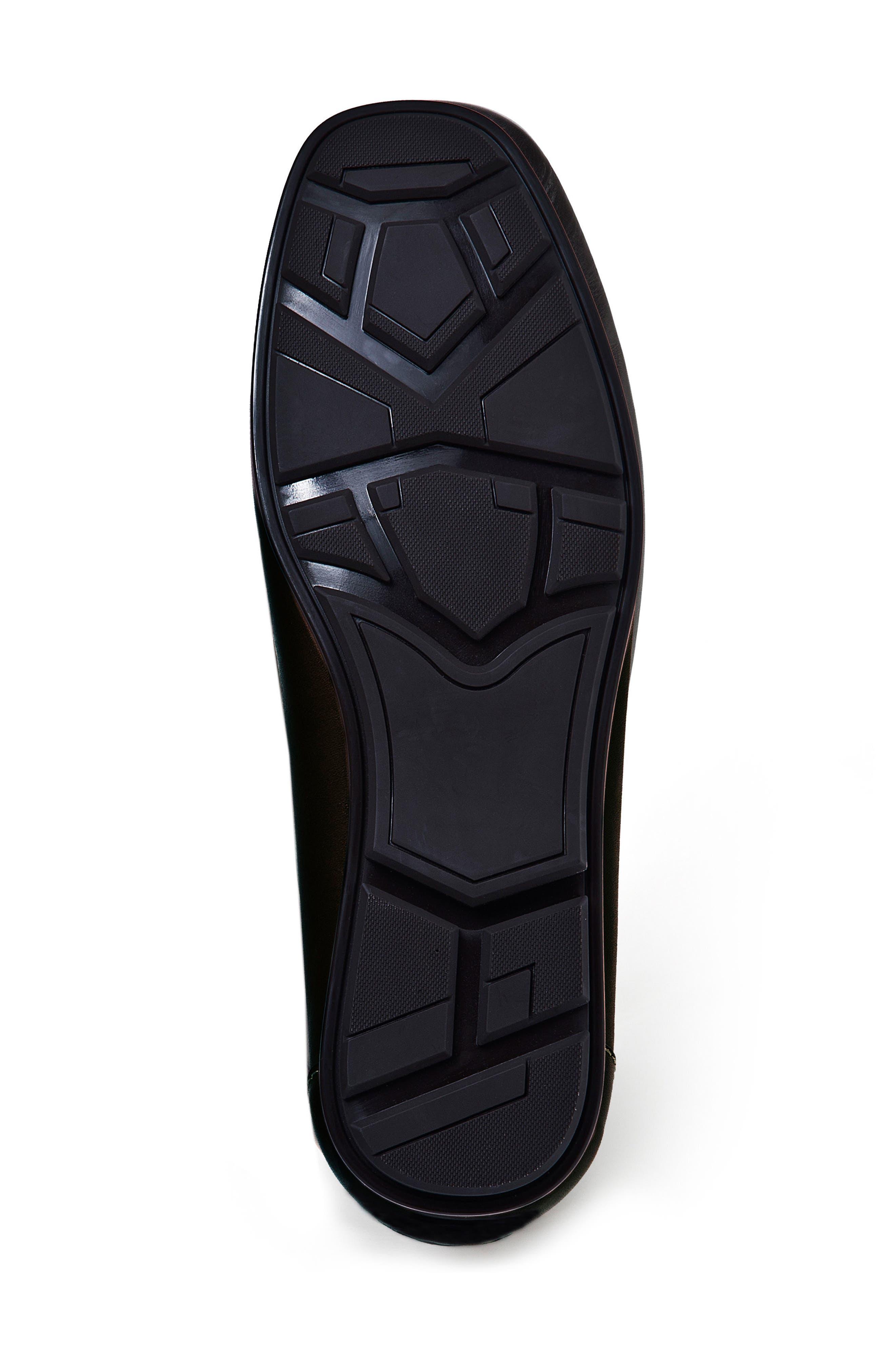 Marco Moc Toe Loafer,                             Alternate thumbnail 4, color,                             Black Leather