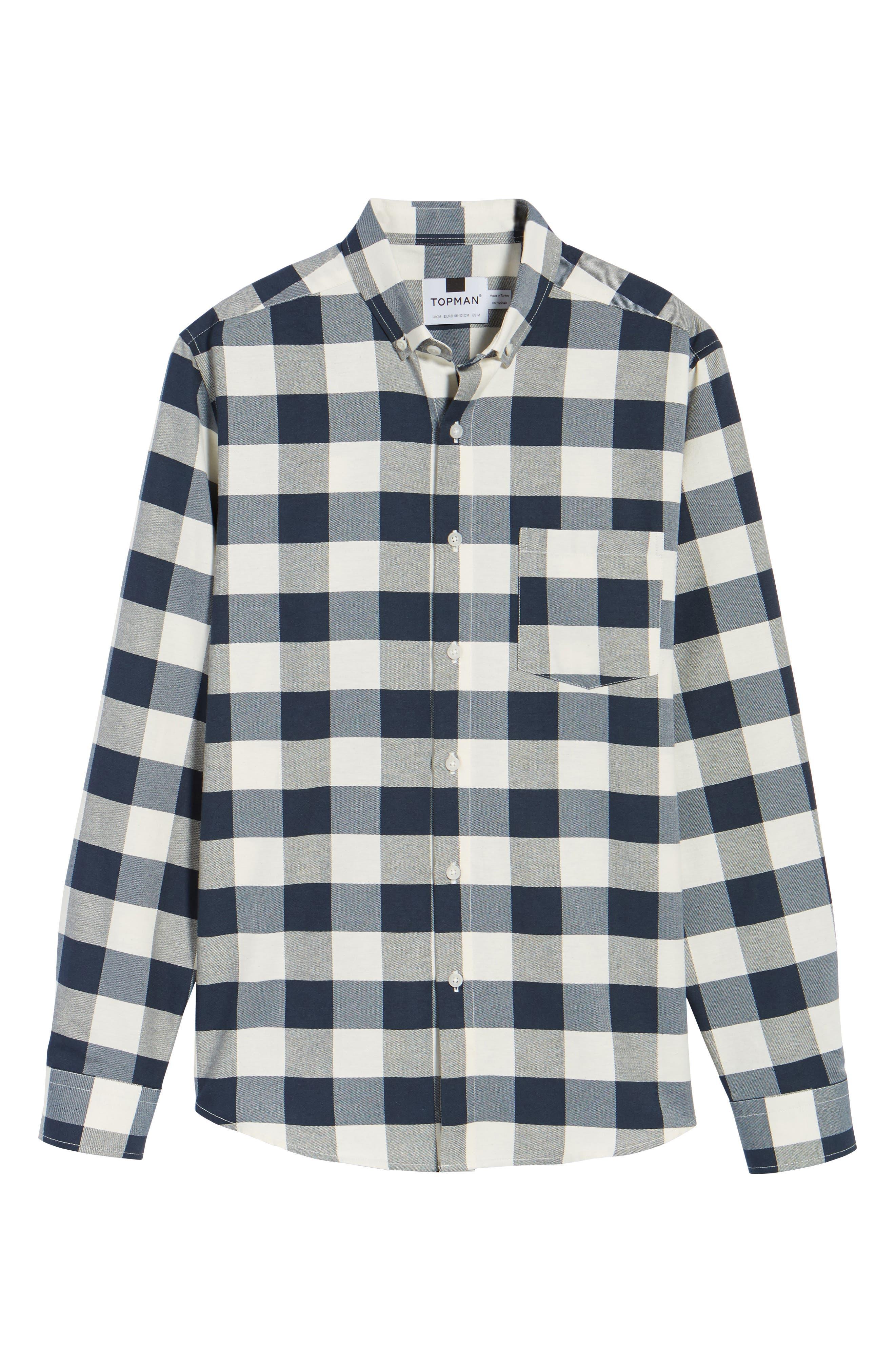 Check Twill Shirt,                             Alternate thumbnail 6, color,                             Stone Multi