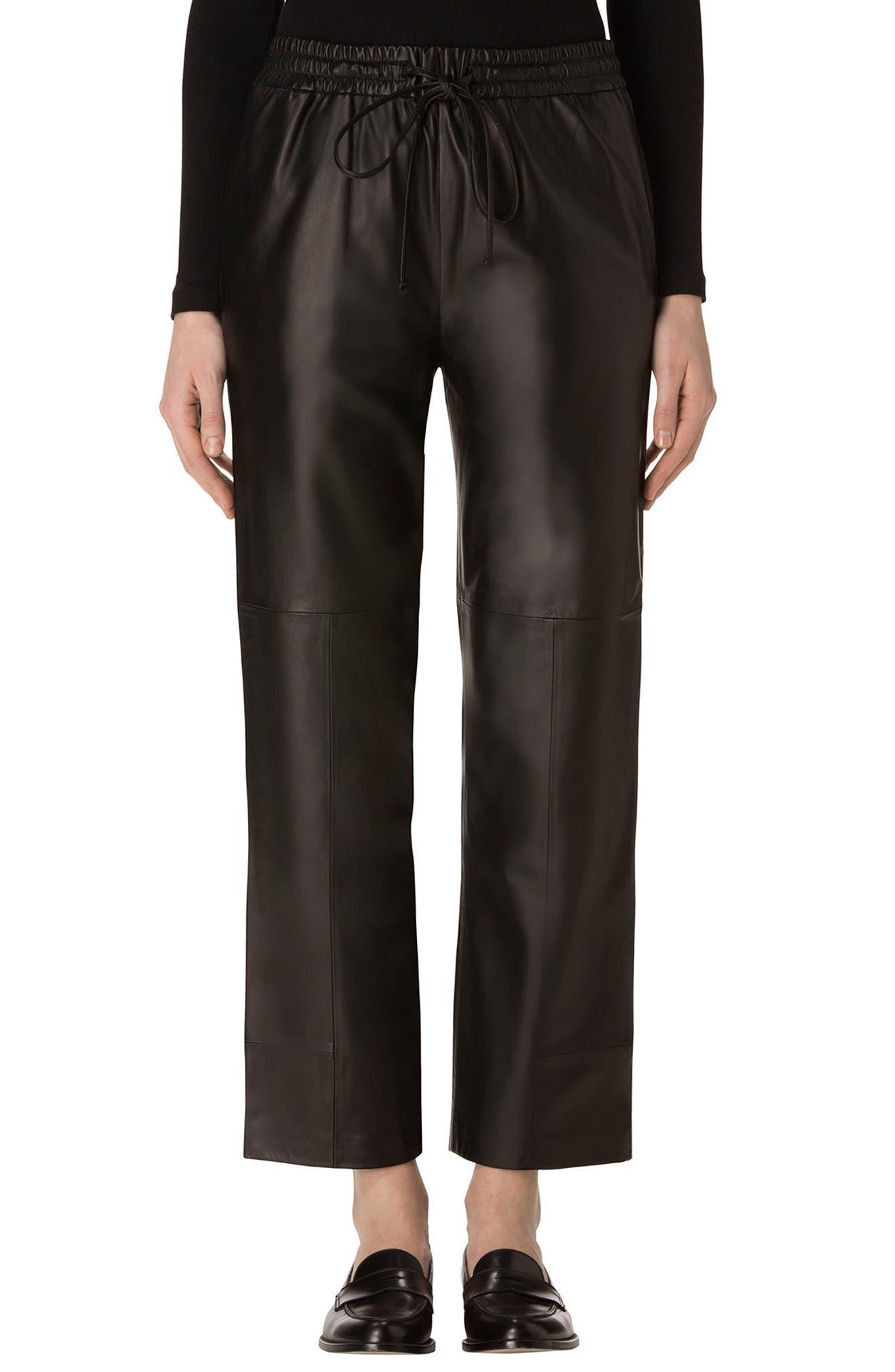 Main Image - J Brand Amari Crop Leather Pants